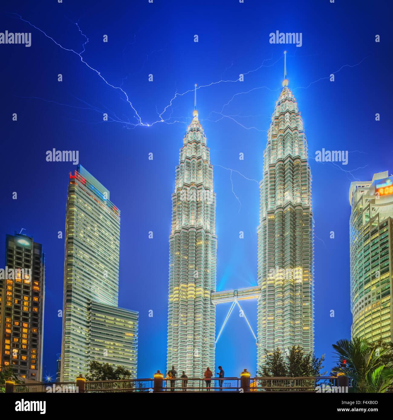 Kuala Lumpur night Scenery in the park, Malaysia. - Stock Image