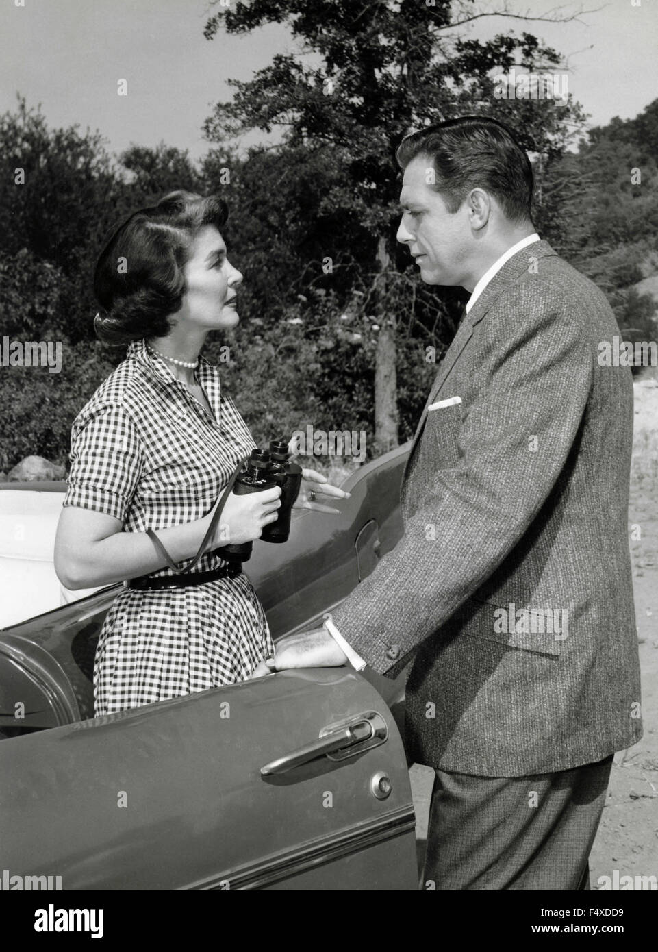 American actors Raymond Burr e Barbara Hale - Stock Image
