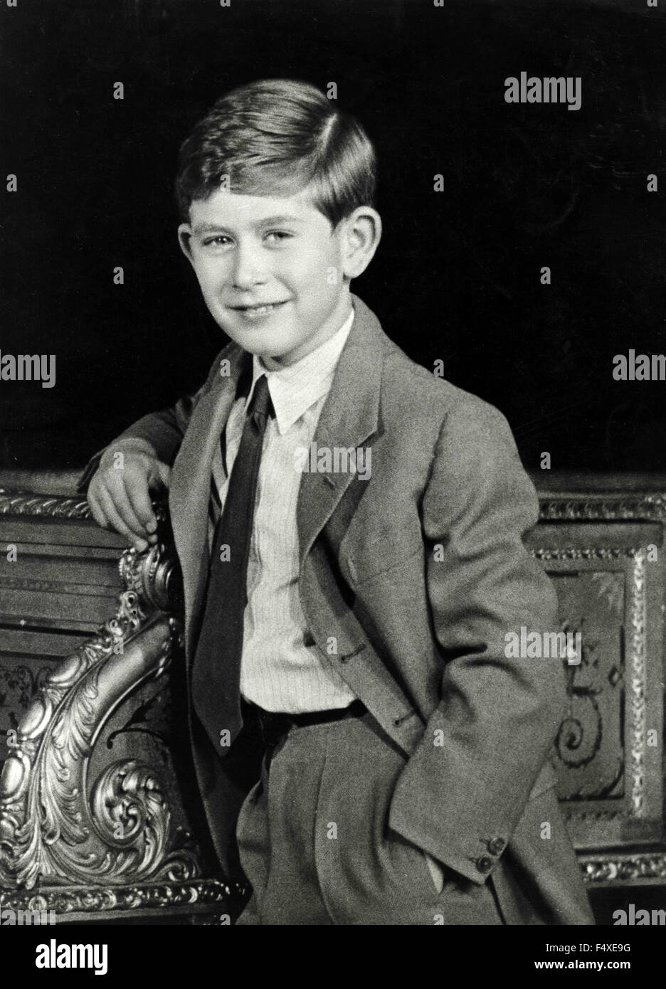 The young 21st Prince of Wales Charles of England - Stock Image