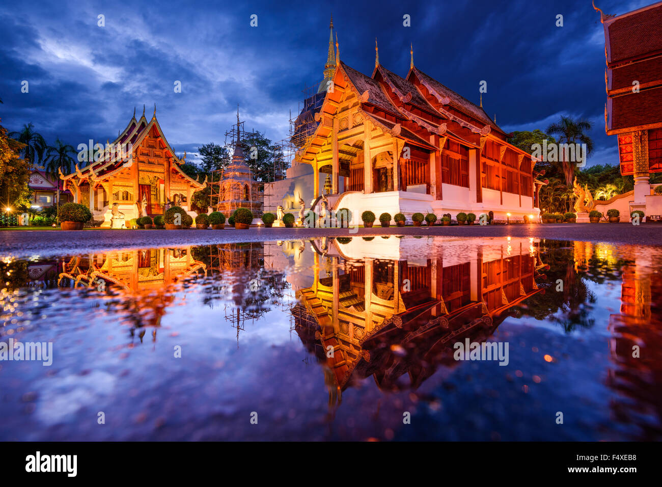 Wat Phra Singh in Chiang Mai, Thailand. Stock Photo