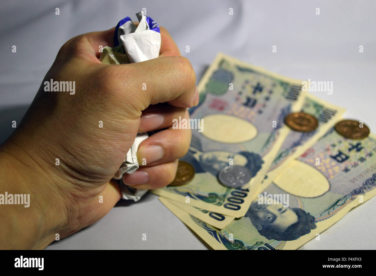 The image of debt - Stock Image