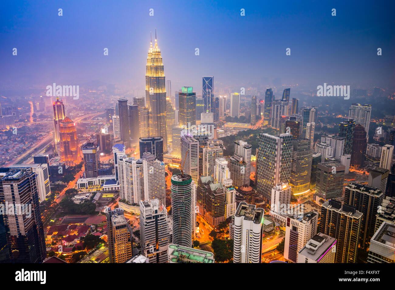 Kuala Lumpur, Malaysia city skyline. Stock Photo