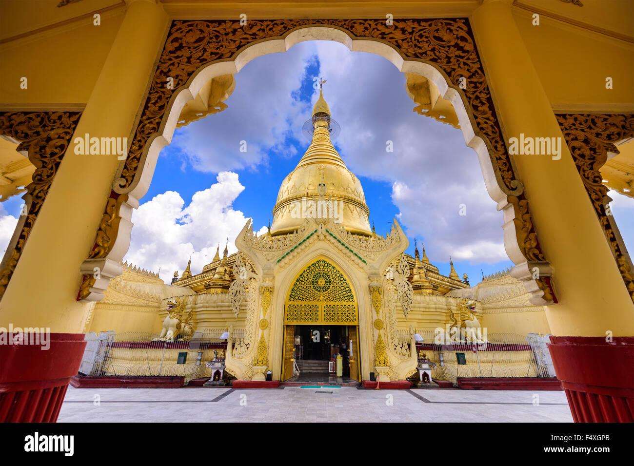 Yangon, Myanmar at Maha Wizaya Pagoda. - Stock Image