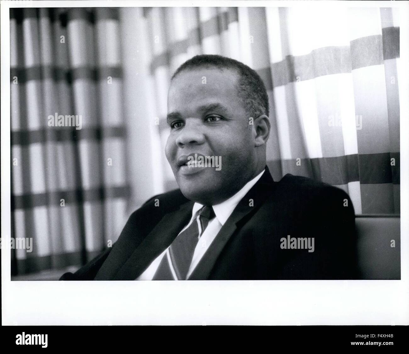 1968 - Monrovia, Liberia: A. Romeo Horton, Secretary of Commerce and Industry; President of Bank of Liberia. education: - Stock Image