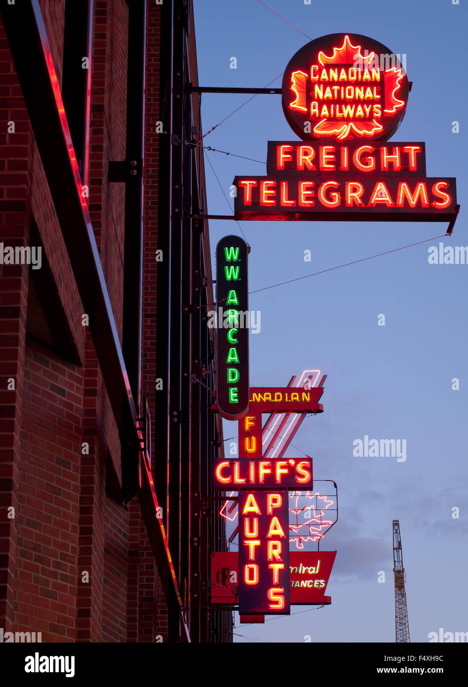 The Electric Neon Signs Of The Outdoor Neon Sign Museum In