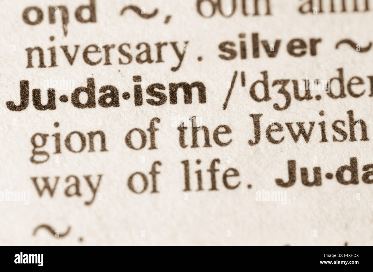 definition of word judaism in dictionary stock photo: 89094934 - alamy