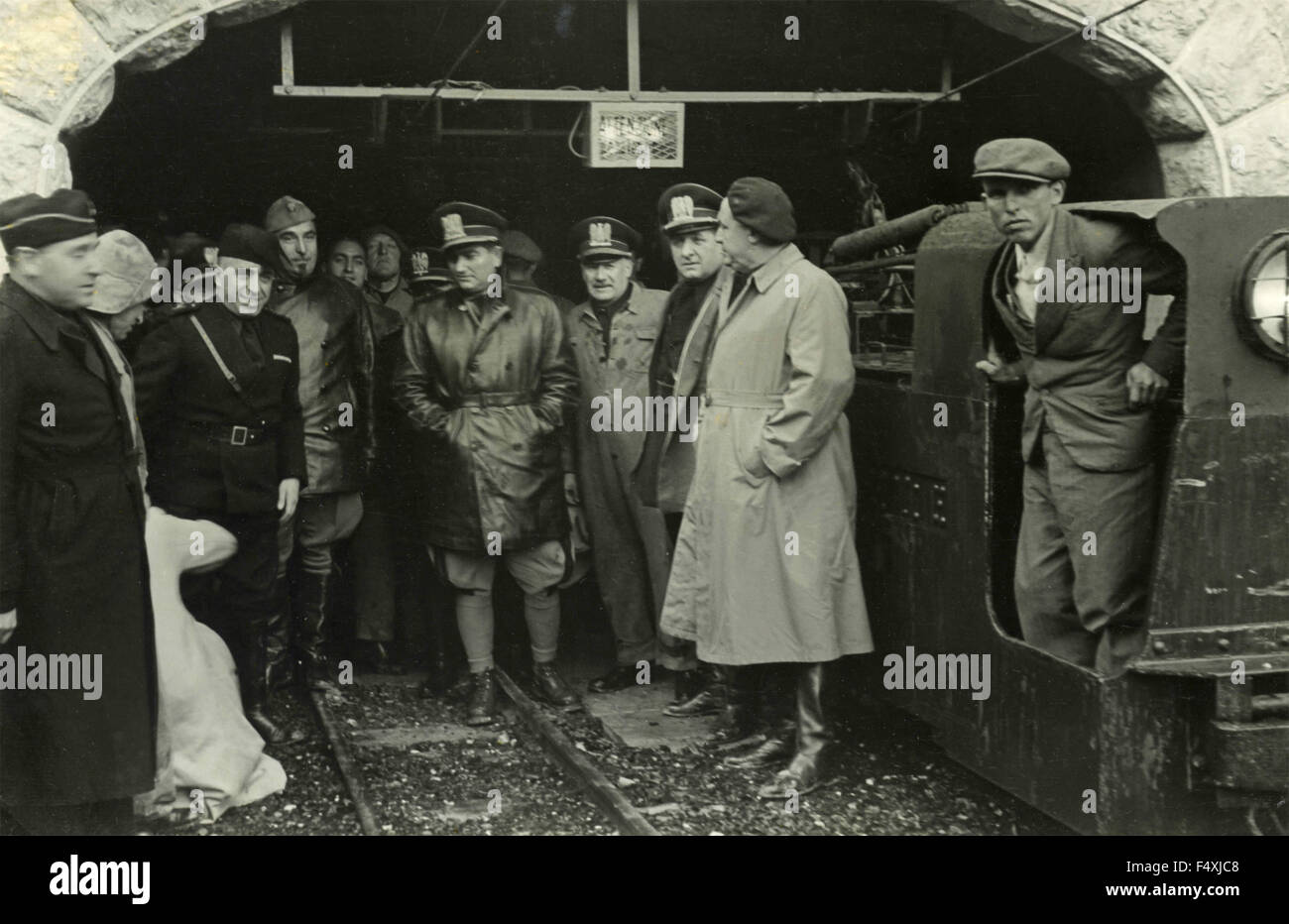 The fascist Galeazzo Ciano visits the Siegfried defense line, France - Stock Image