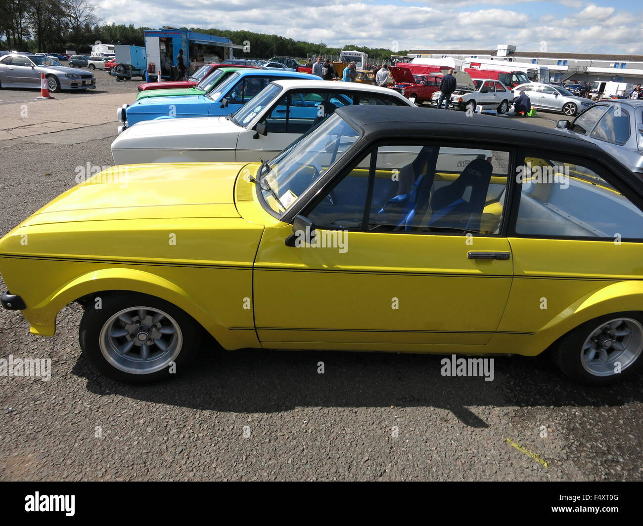 Ford Escort Mk Rs Mexico At Donnington Rsoc Rs Owners Club Event Showing Yellow