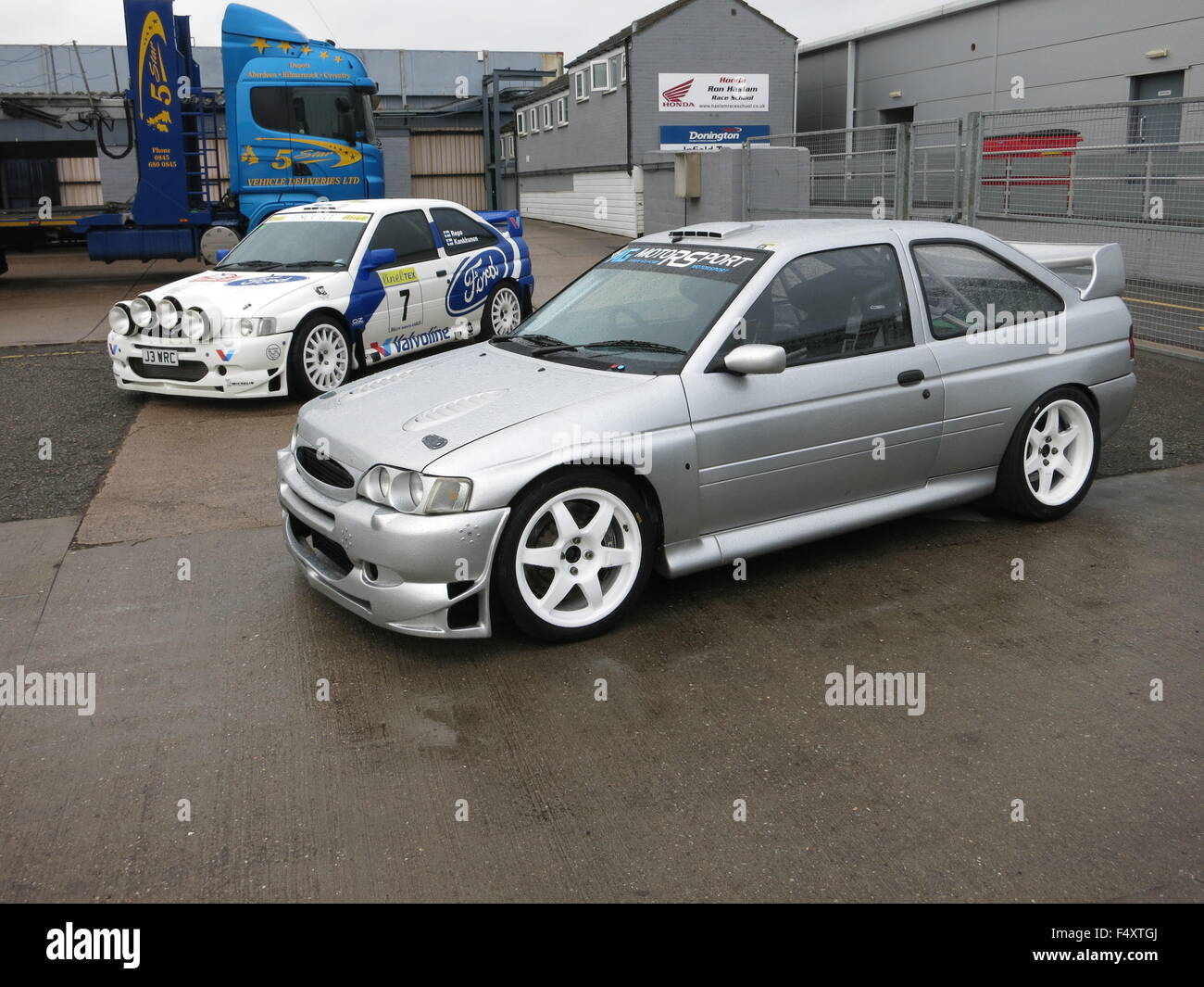 Ford Escort WRC World rally car and WRC replica road car with