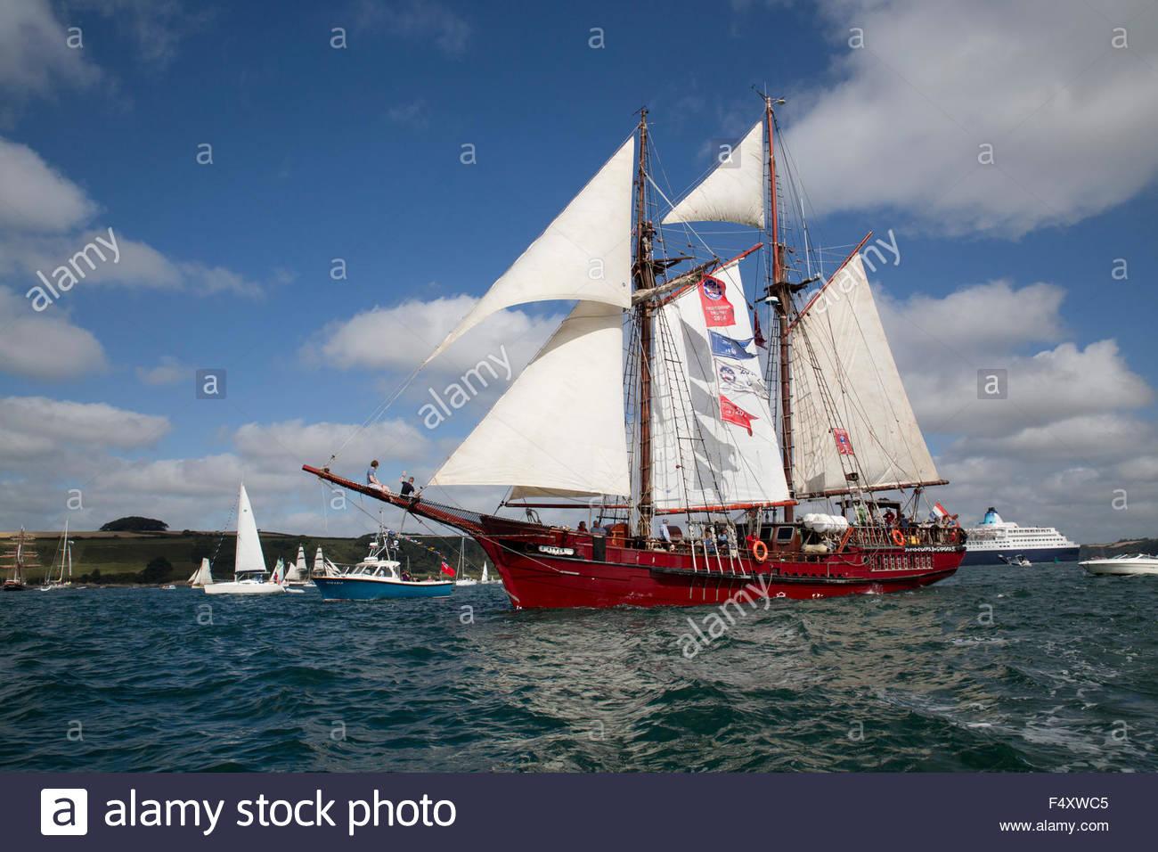 Tall Ships; Regatta; Falmouth 2014 Cornwall; UK - Stock Image