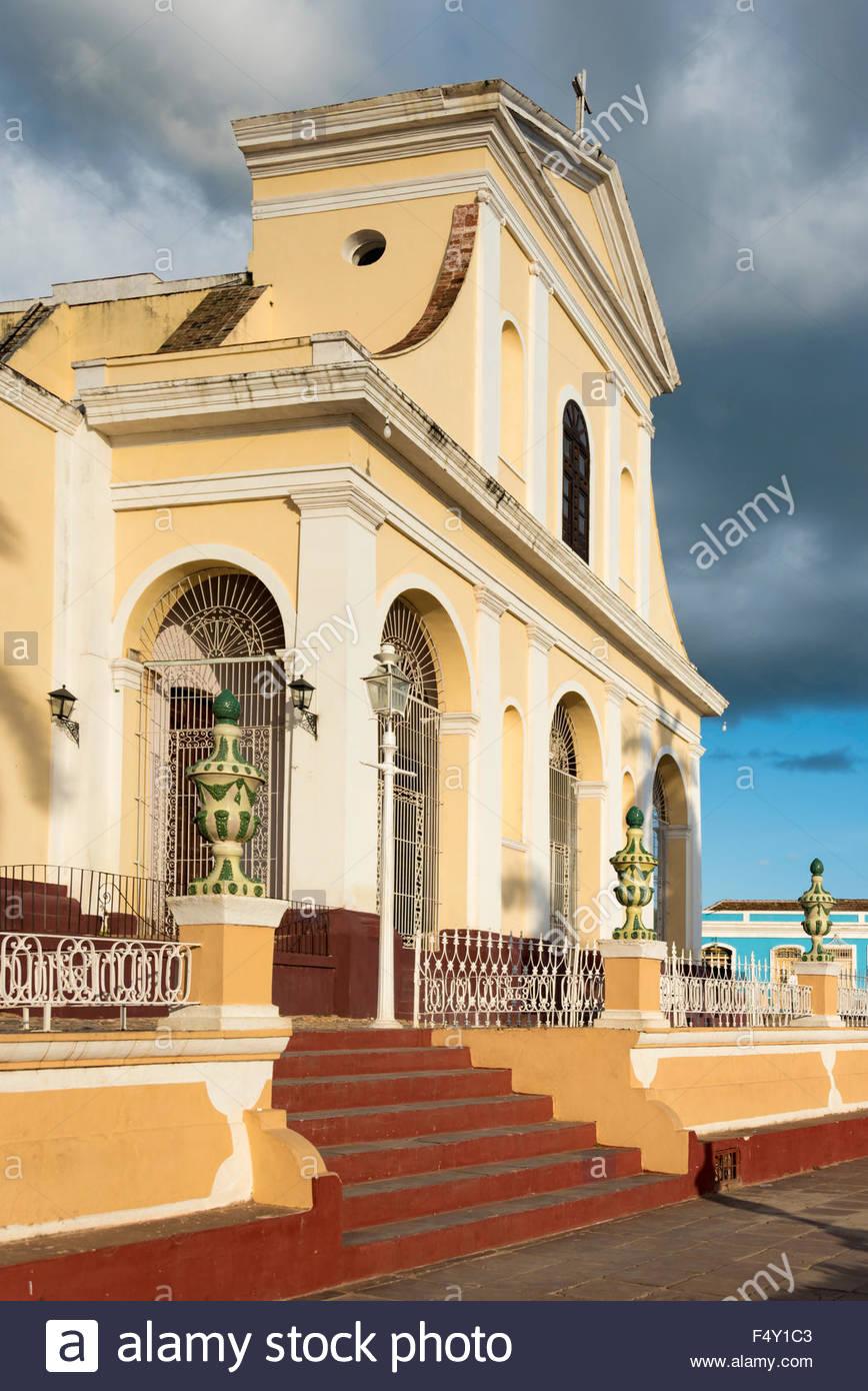 Trinidad de Cuba landmarks:  Church of the Holy Trinity or Iglesia Parroquial de la Santísima Trinidad.  The - Stock Image