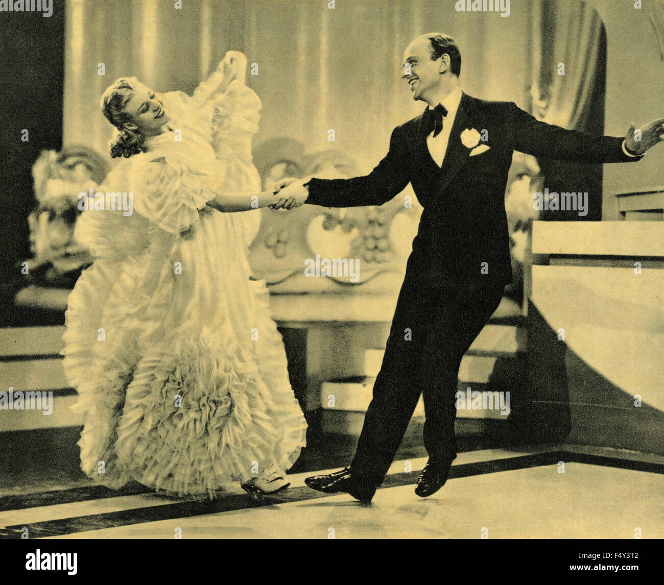 American Actors Ginger Rogers And Fred Astaire In The Movie Cheek To Stock Photo Alamy
