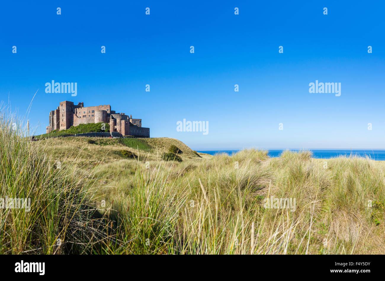 Bamburgh Castle, Northumberland, England, UK - Stock Image