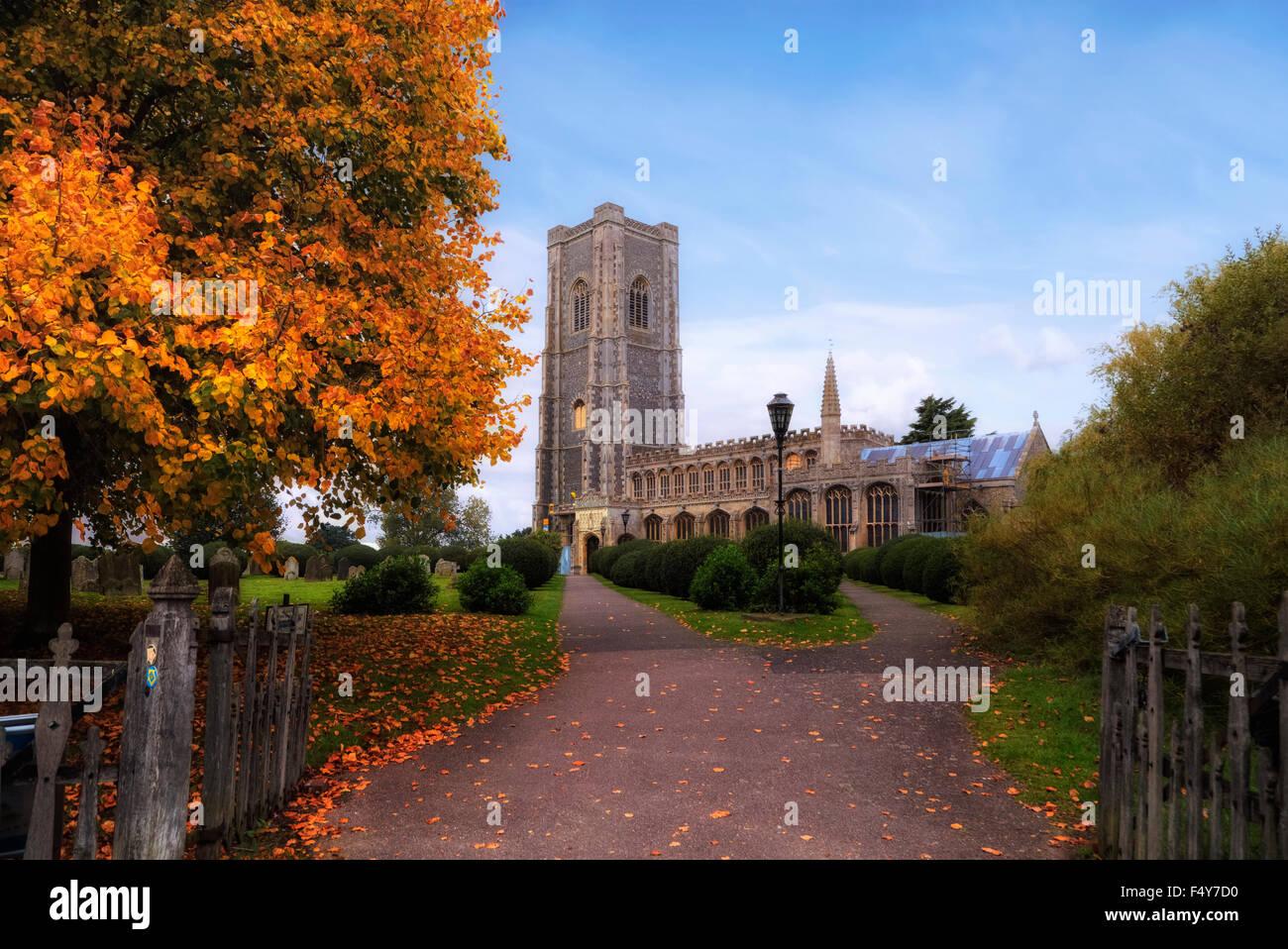 St Peter and St Paul's Church, Lavenham, Suffolk, England, United Kingdom - Stock Image