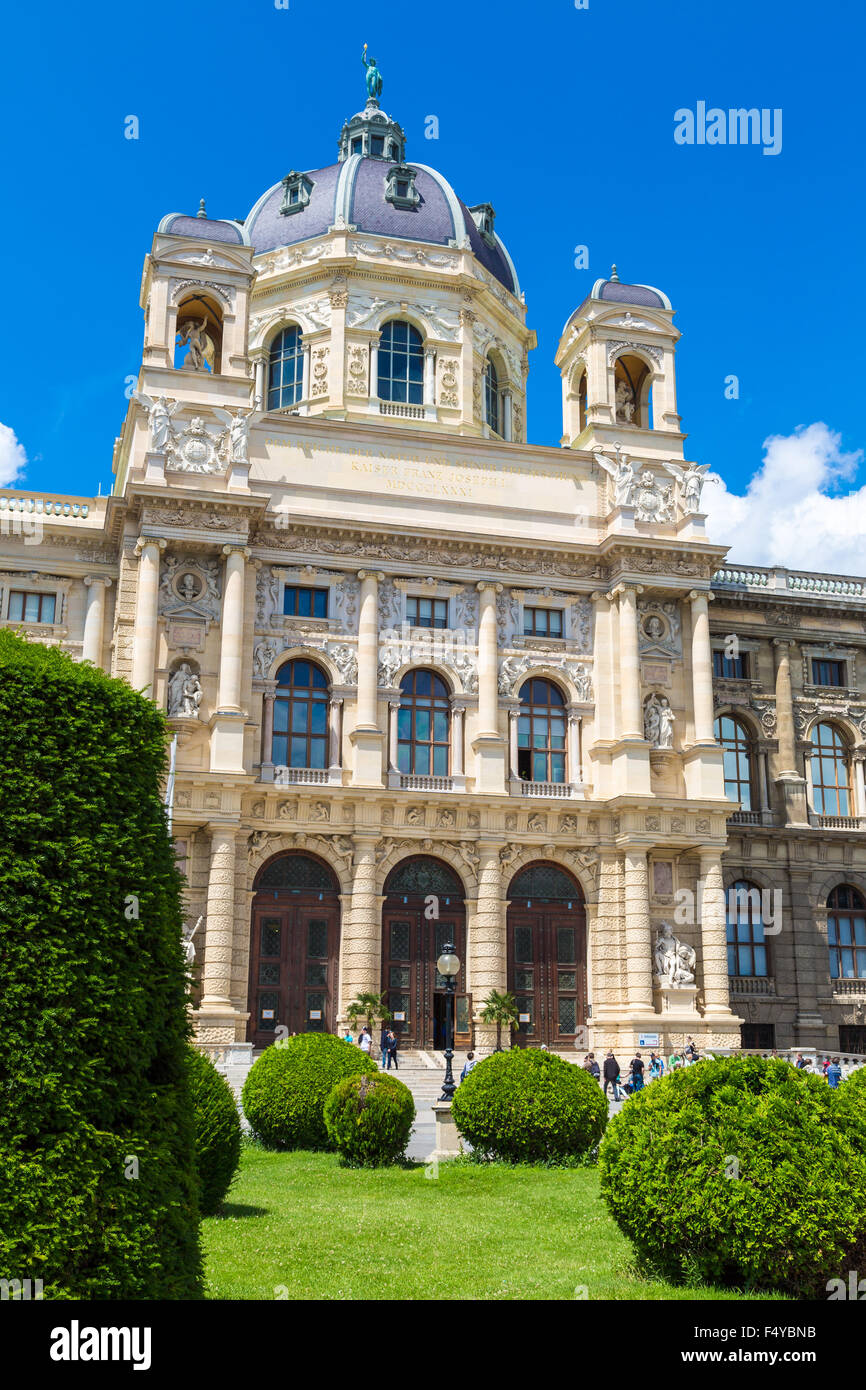 The Museum of Natural History in Vienna. View from the Maria-Theresien Place - Stock Image