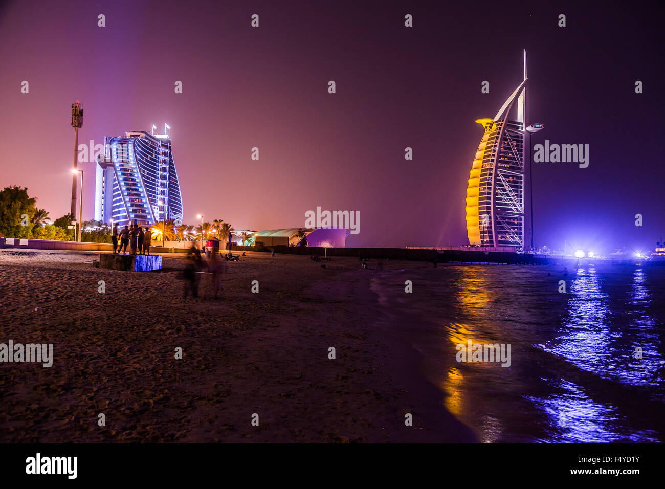DUBAI, UAE - NOVEMBER 14 :The world's first seven stars luxury hotel Burj Al Arab, November 14, 2012 in Dubai, - Stock Image