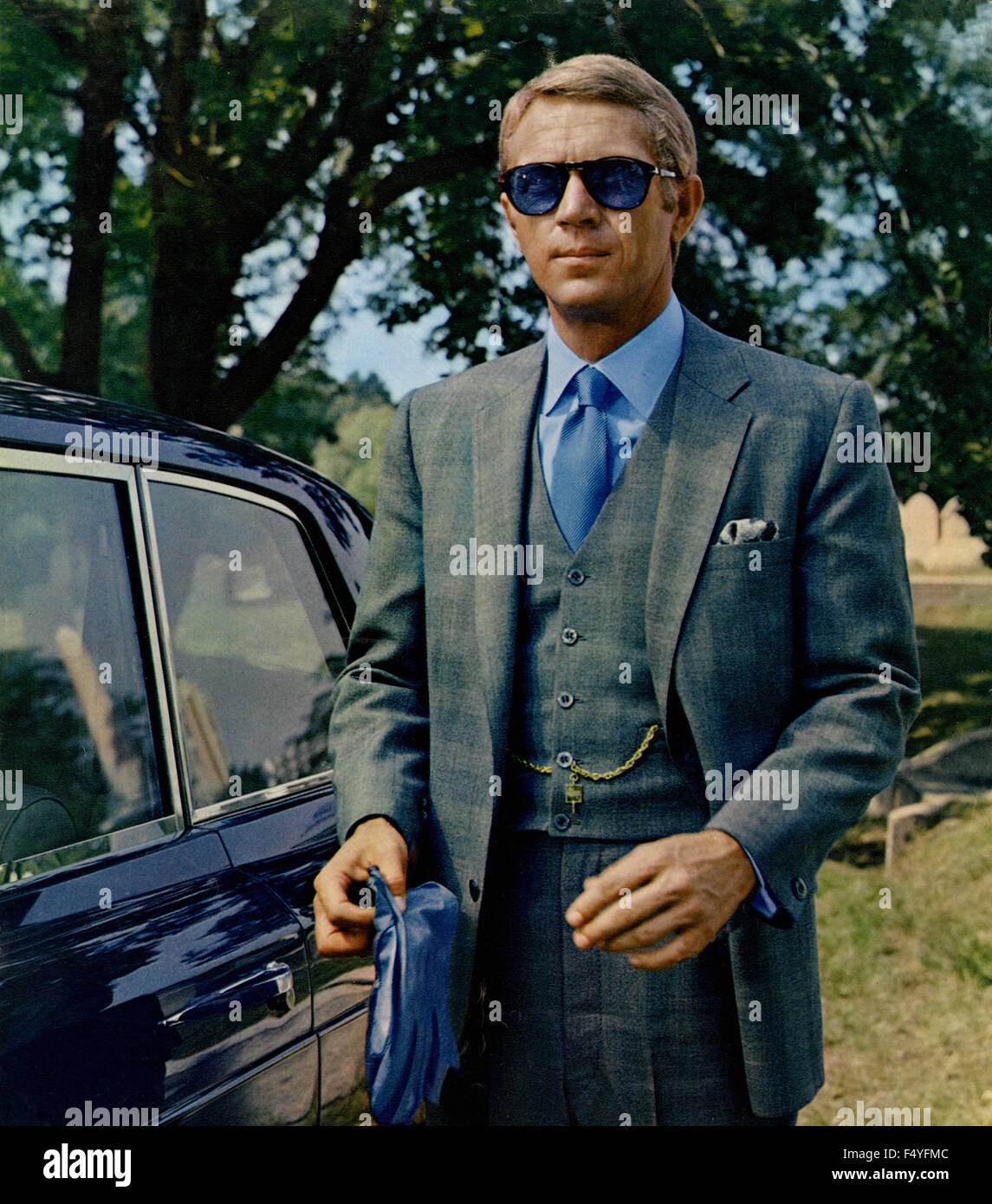 The actor Steve McQueen in a scene from the film 'The Thomas Crown Affair', 1968 - Stock Image