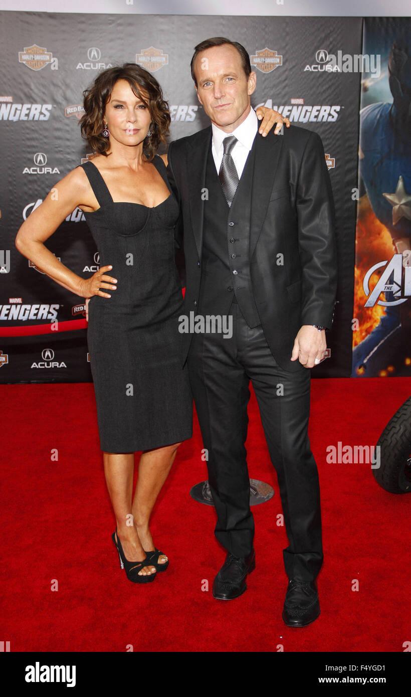 Jennifer Grey Clark Gregg The Avengers Stock Photos