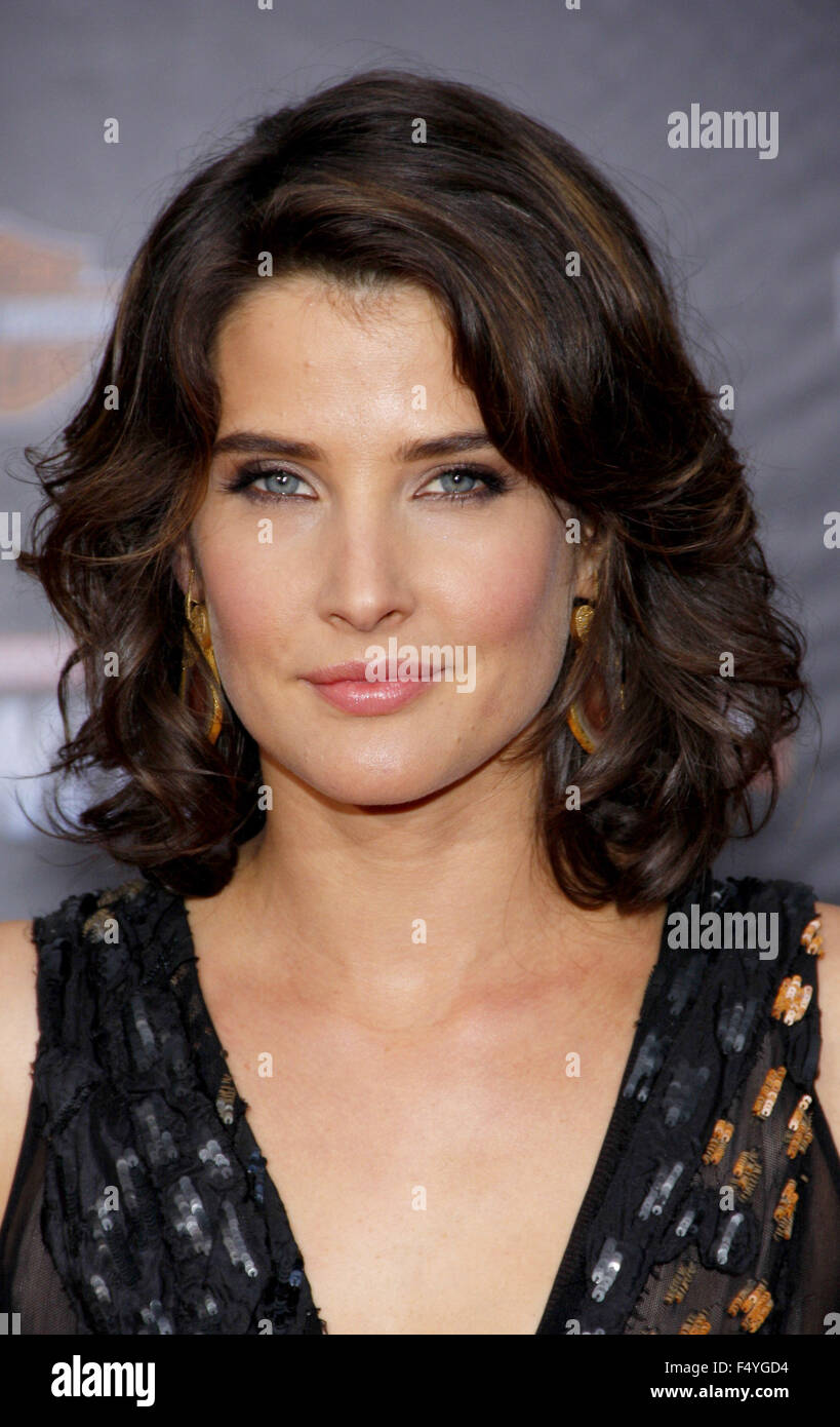 """Cobie Smulders at the Los Angeles Premiere of """"Marvel's The Avengers"""" held at the El Capitan Theater, California, Stock Photo"""