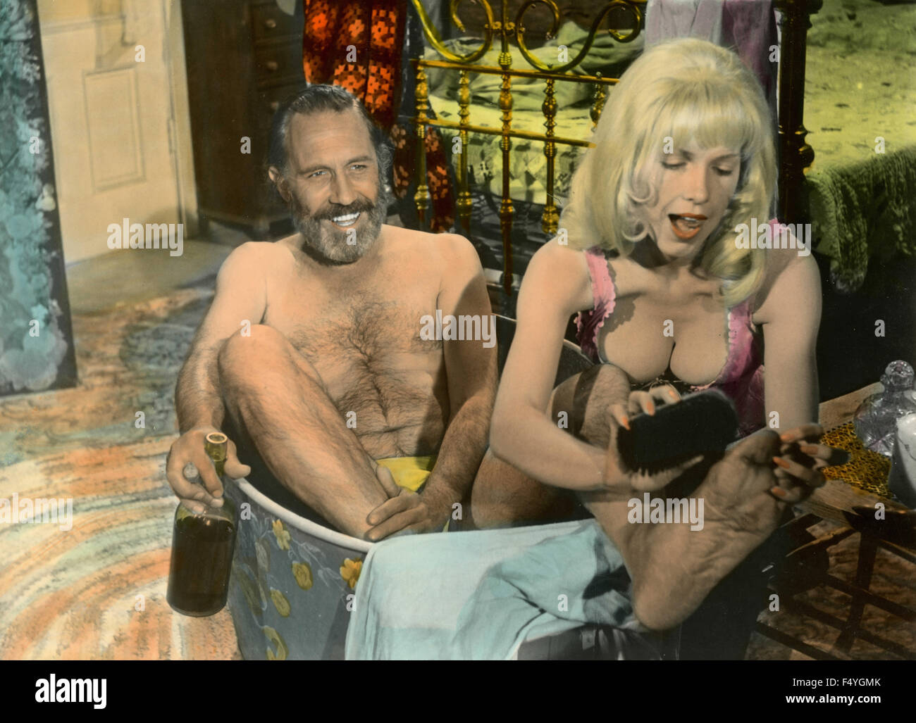 Jason Robards and Stella Stevens in the movie The Ballad of Cable Hogue, 1970 - Stock Image