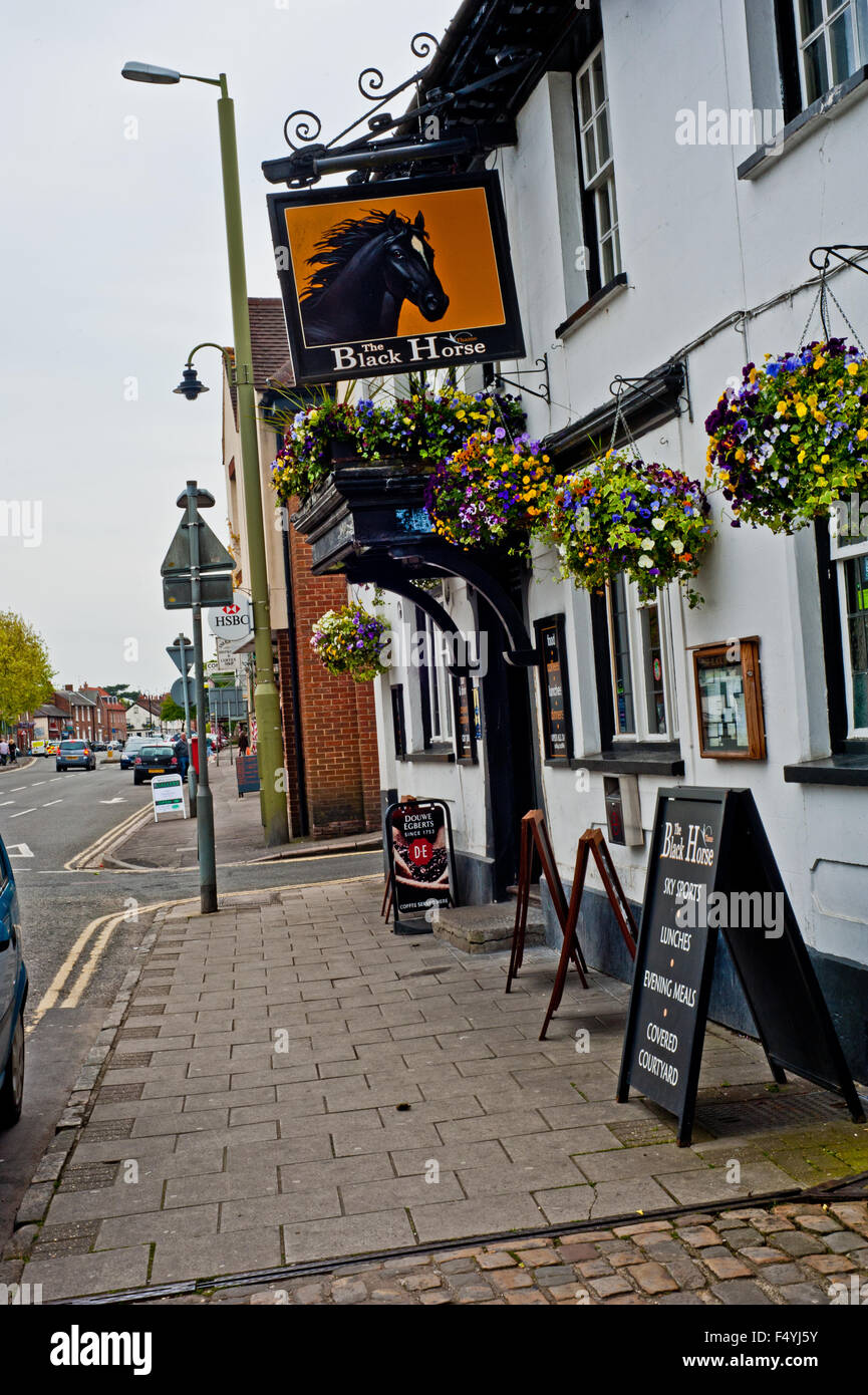 The Black Horse at Thame, Oxfordshire - Stock Image