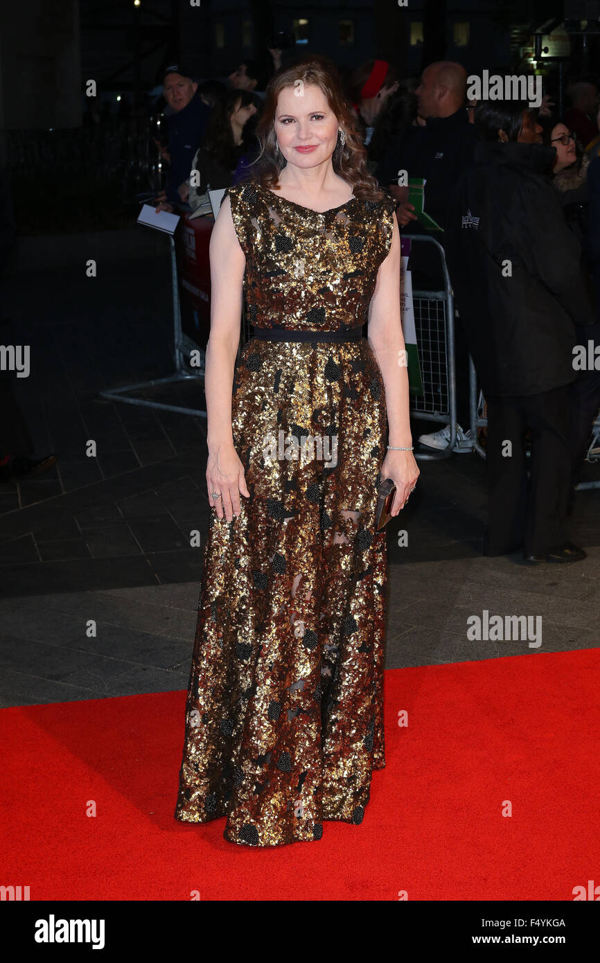 London, UK, 7th Oct 2015: Geena Davis attends Suffragette film premiere and gala opening night, 59th BFI London - Stock Image