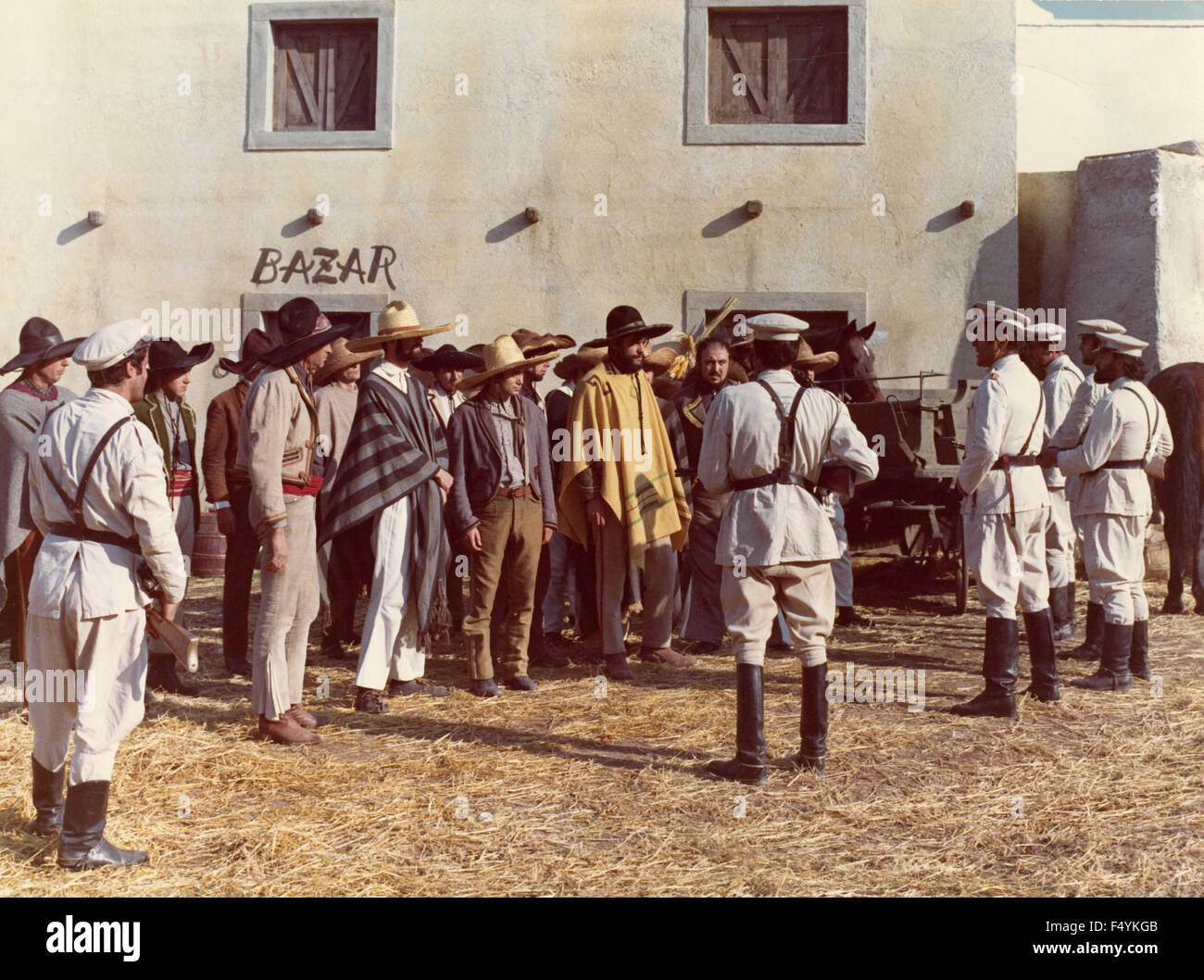 Scene from a western film unidentified, 3 - Stock Image