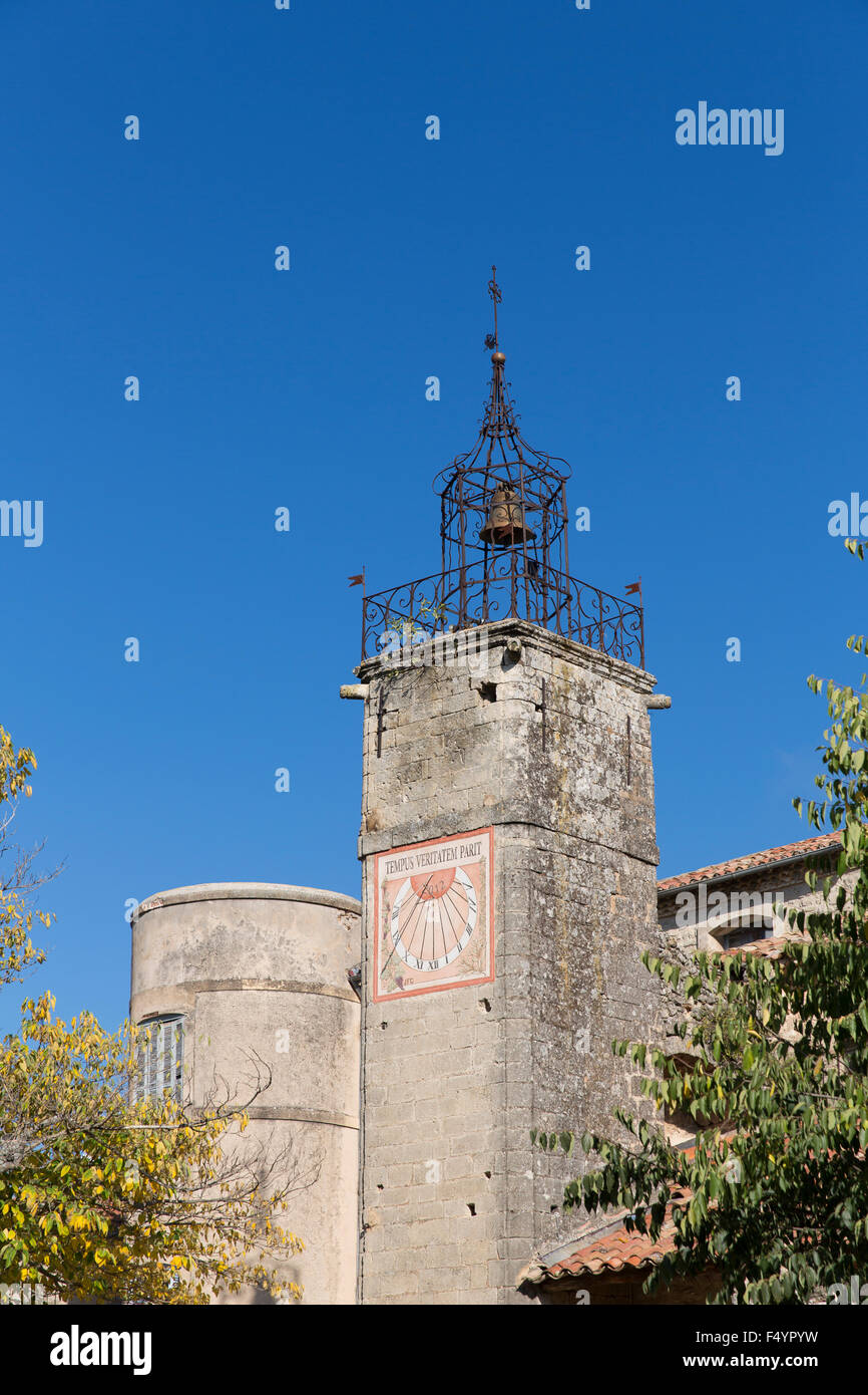 Kirchturm in Grambois, Vaucluse, Provence, Frankreich - Stock Image