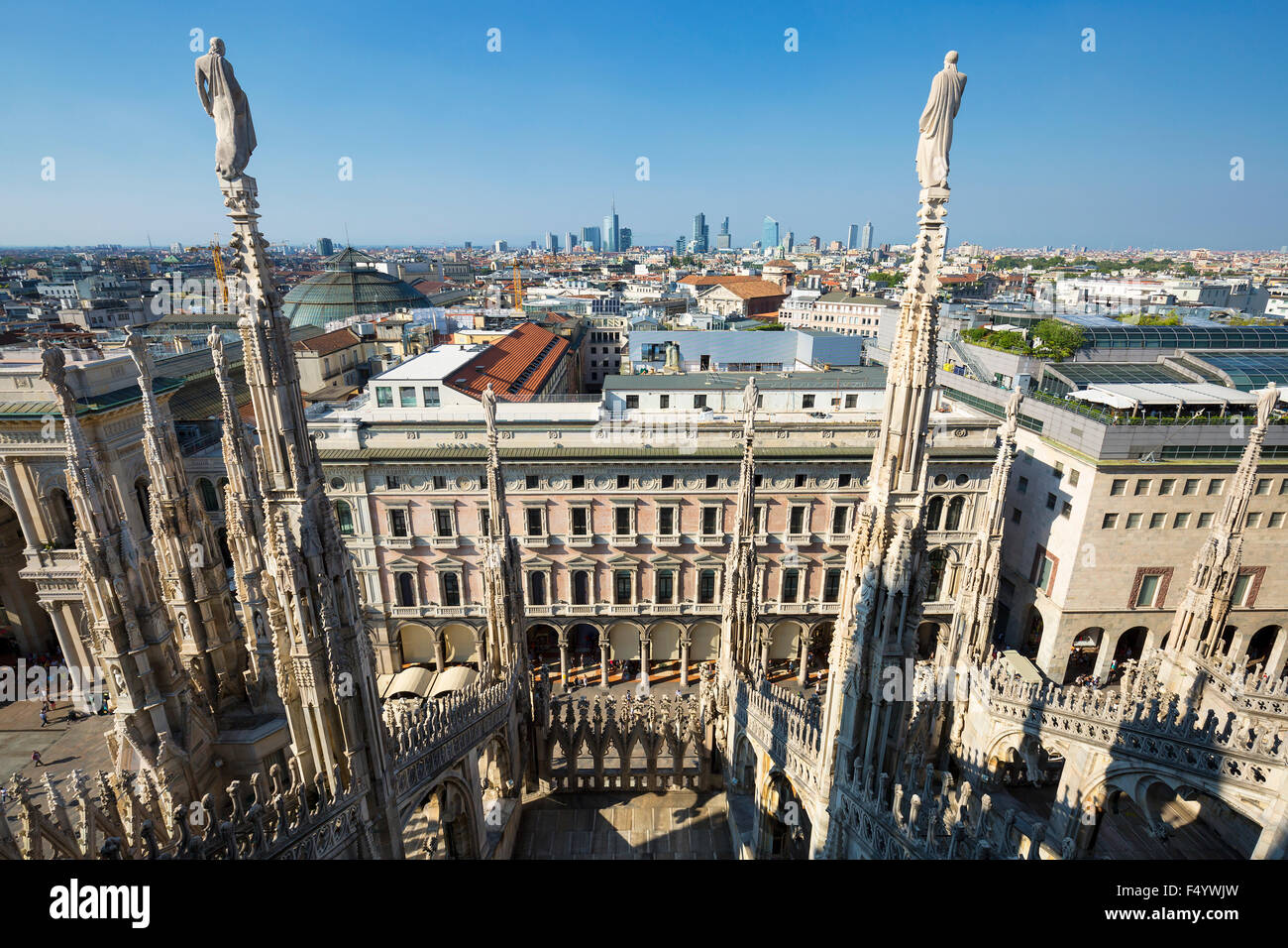 View from Milan Cathedral, Italy - Stock Image