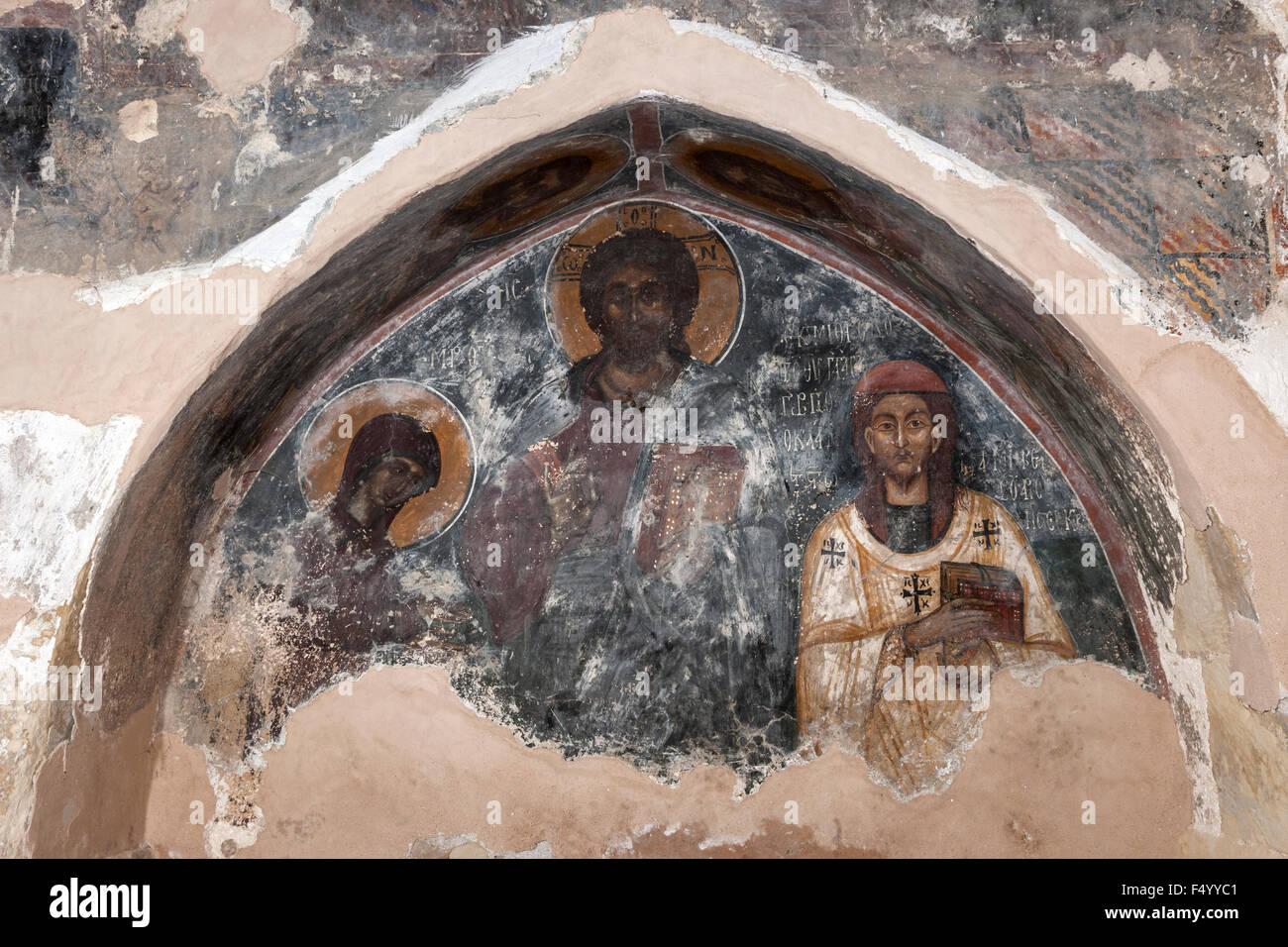 Greek Orthodox iconography. - Stock Image