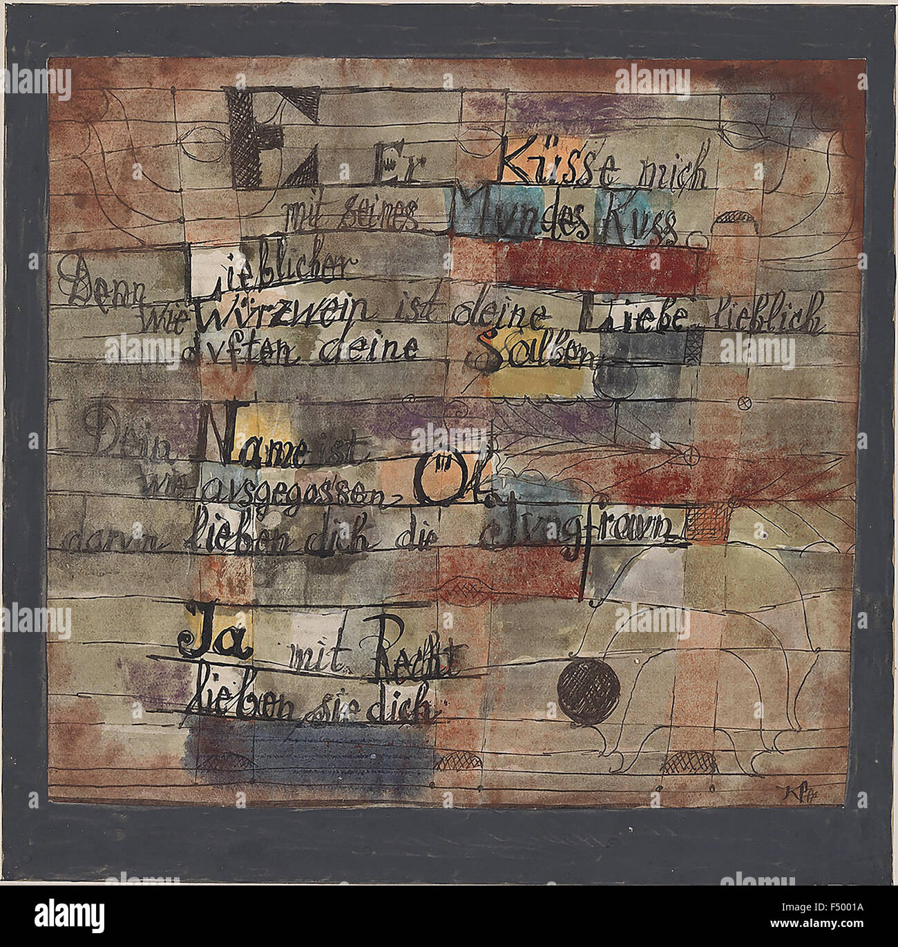 Paul Klee - (From the Song of Songs) Version II - Stock Image