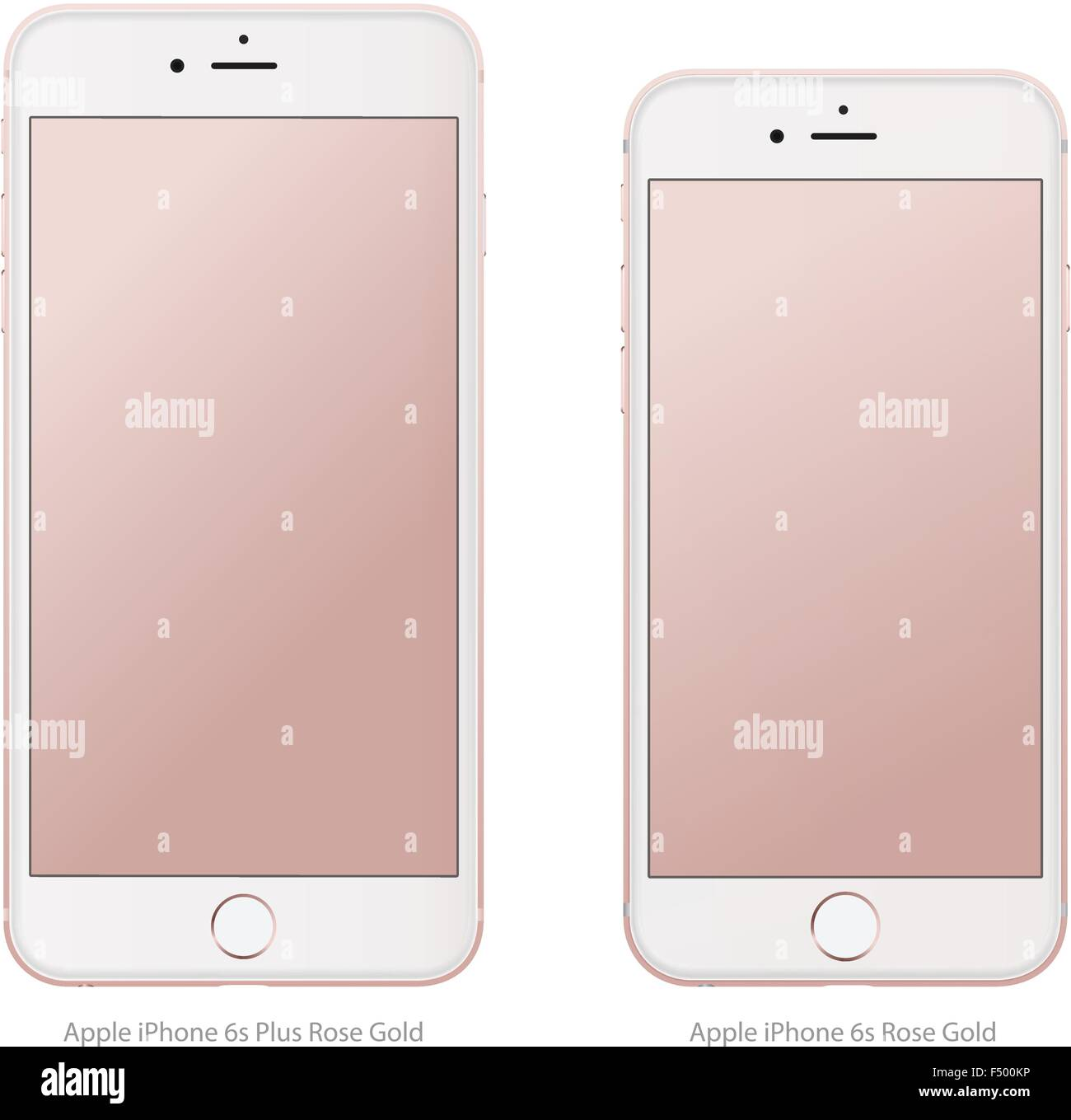 iphone 6s stock apple iphone 6s plus gold in vector format stock 3473