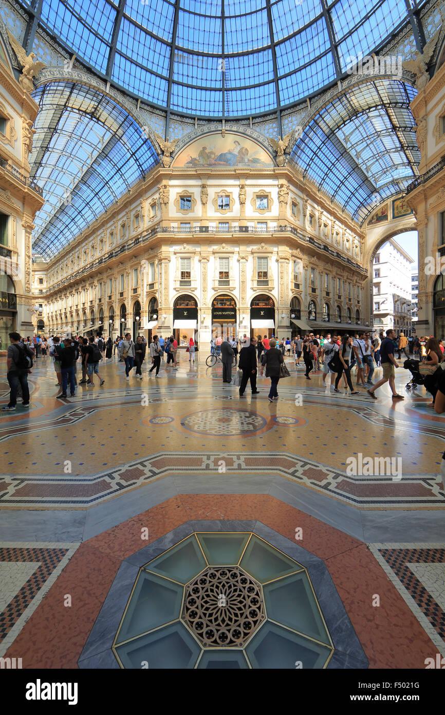 Galleria Vittorio Emanuele II, gallery, Milano, Milan, Lombardy, Lombardy, Italy - Stock Image