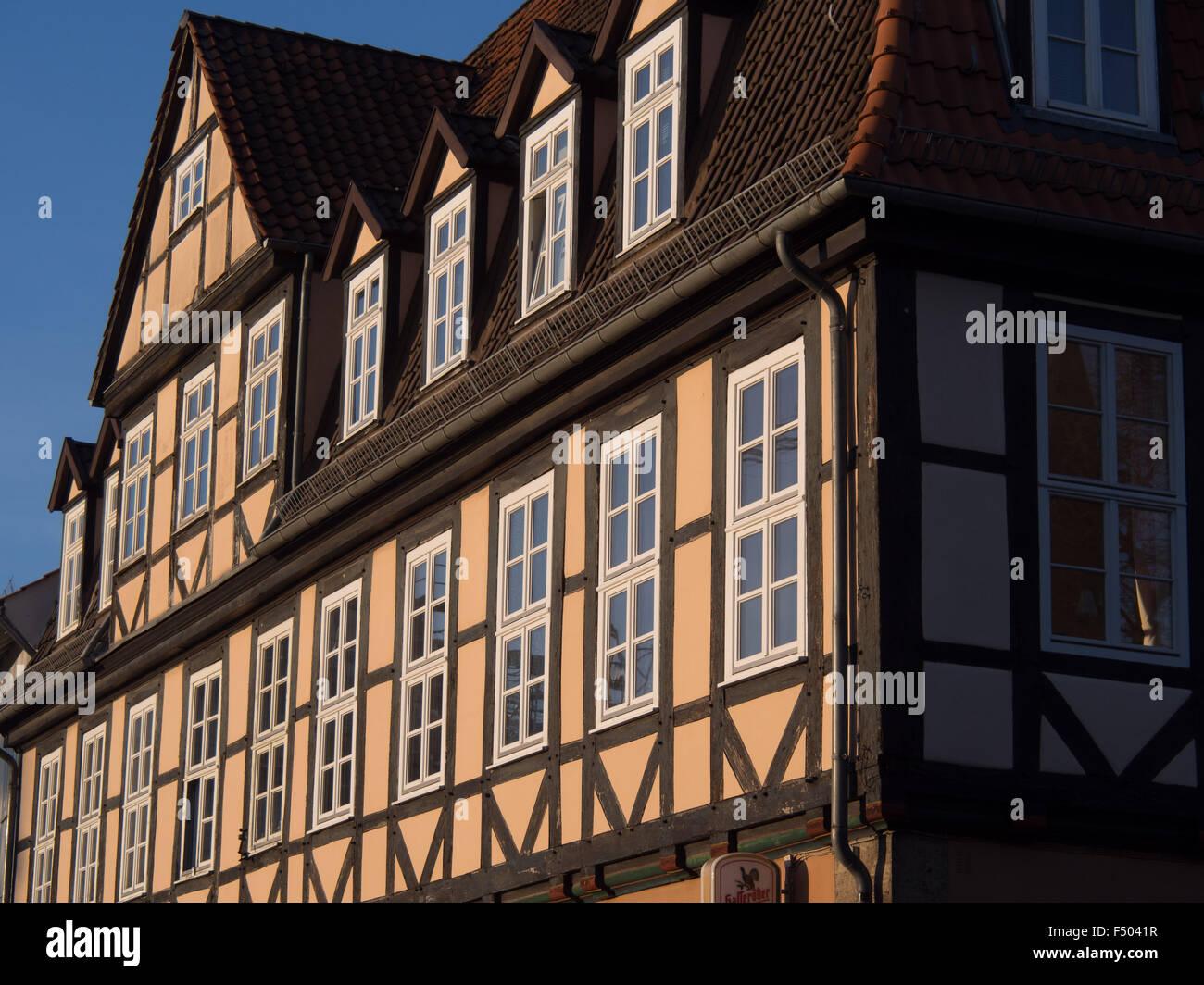 Traditional German architecture in Hanover, Deutschland - Stock Image