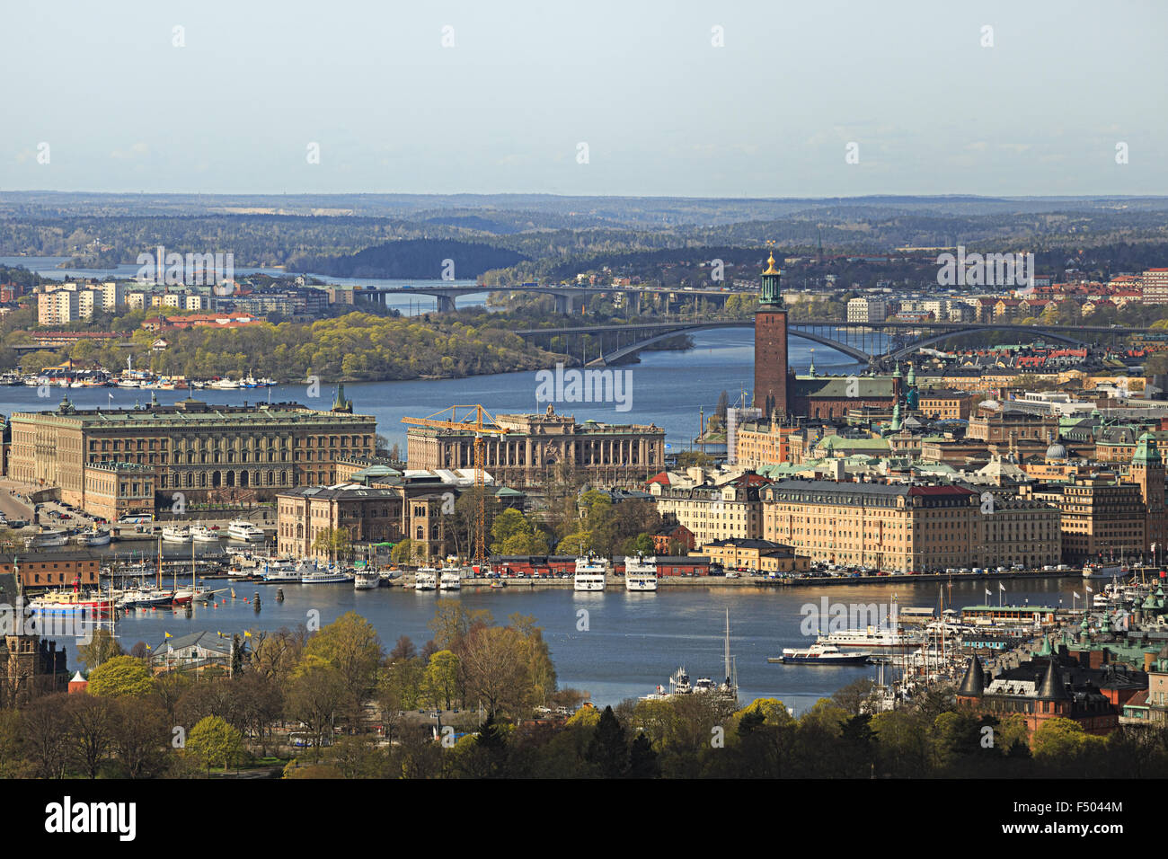 The city on the water, Stockholm Collection - Stock Image