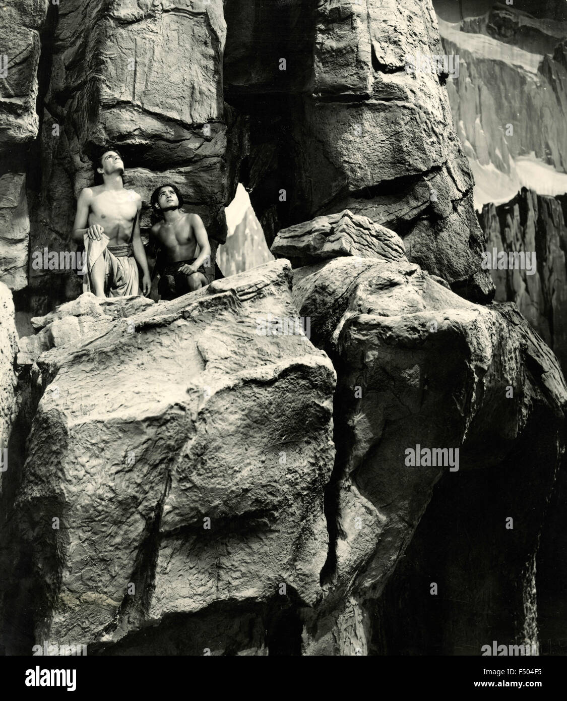 The actor Sabu in a scene from the film 'The Thief of Bagdad', 1940 - Stock Image