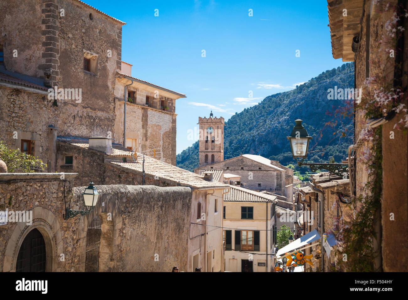 Pollenca, old village on the island of Mallorca - Stock Image