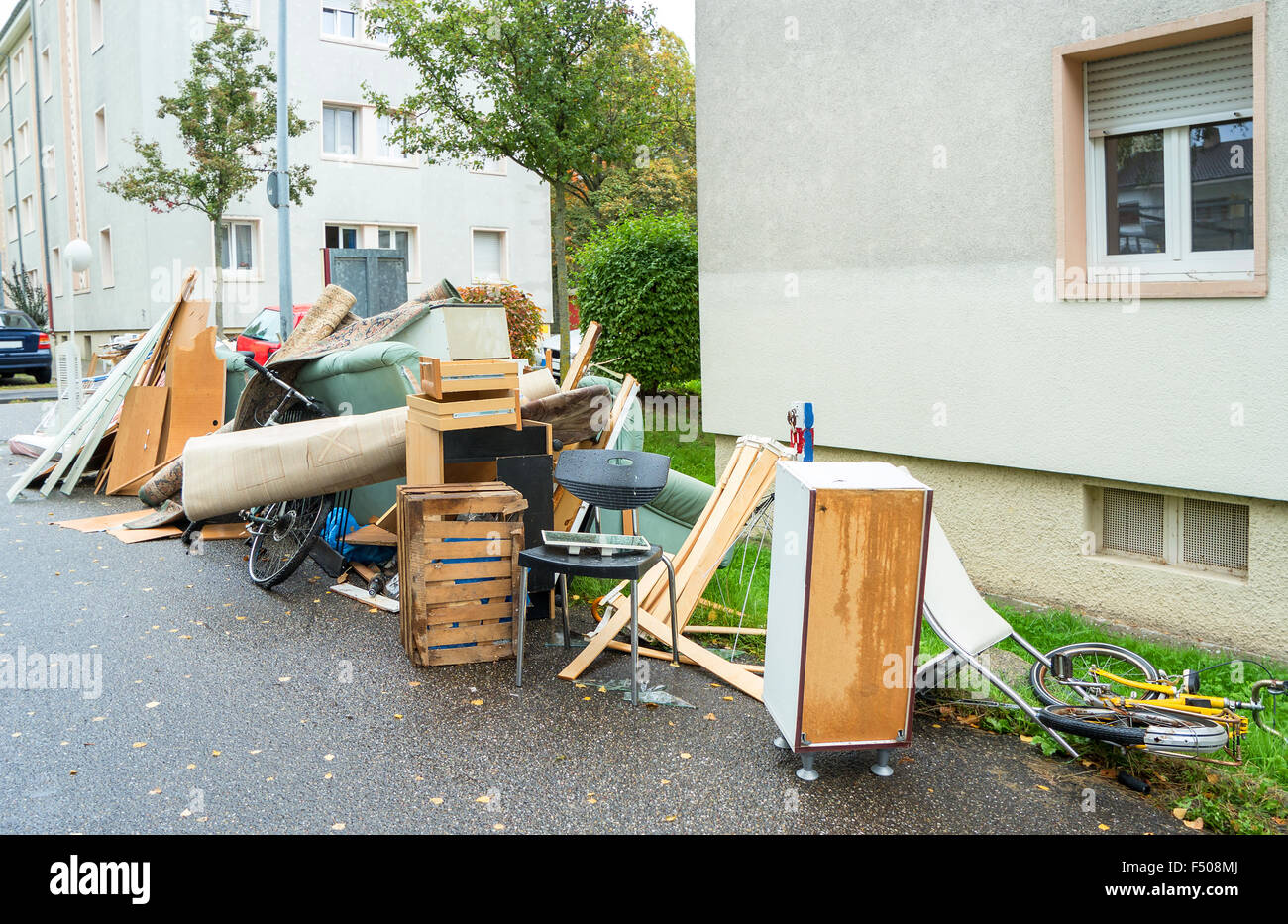 Big Pile Of Old Broken Furniture Stock Photo 89131970 Alamy