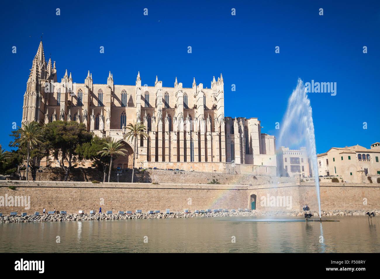 Cathedral San Seu in Palma de Mallorca - Stock Image
