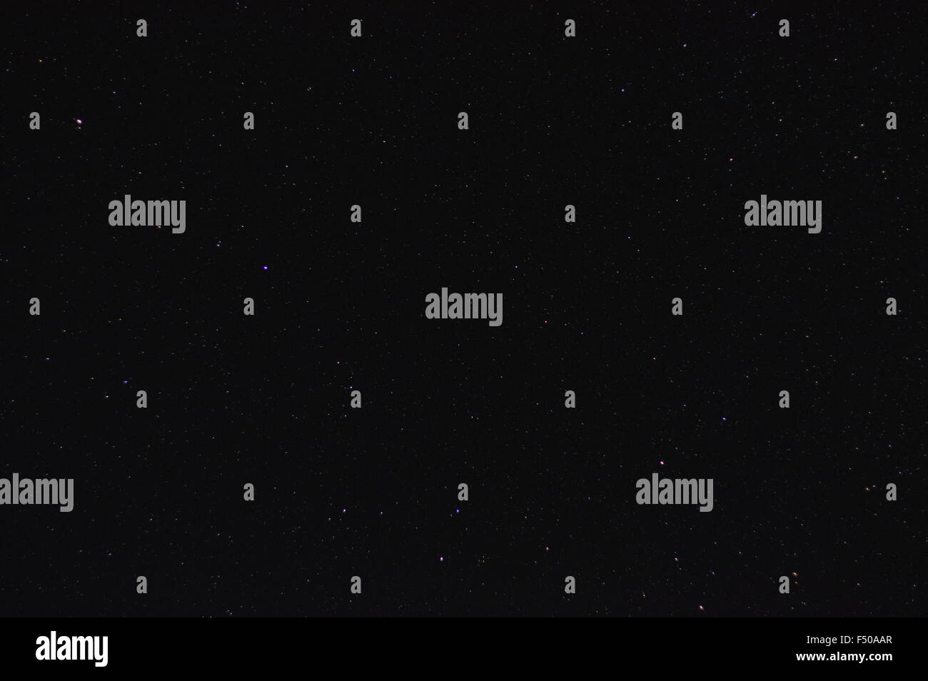 Night clear sky with many stars - Stock Image