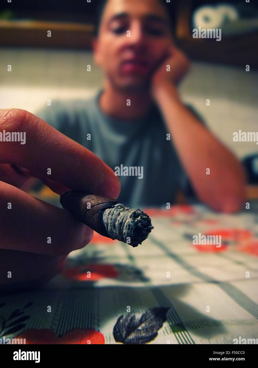 The smoker - Stock Image