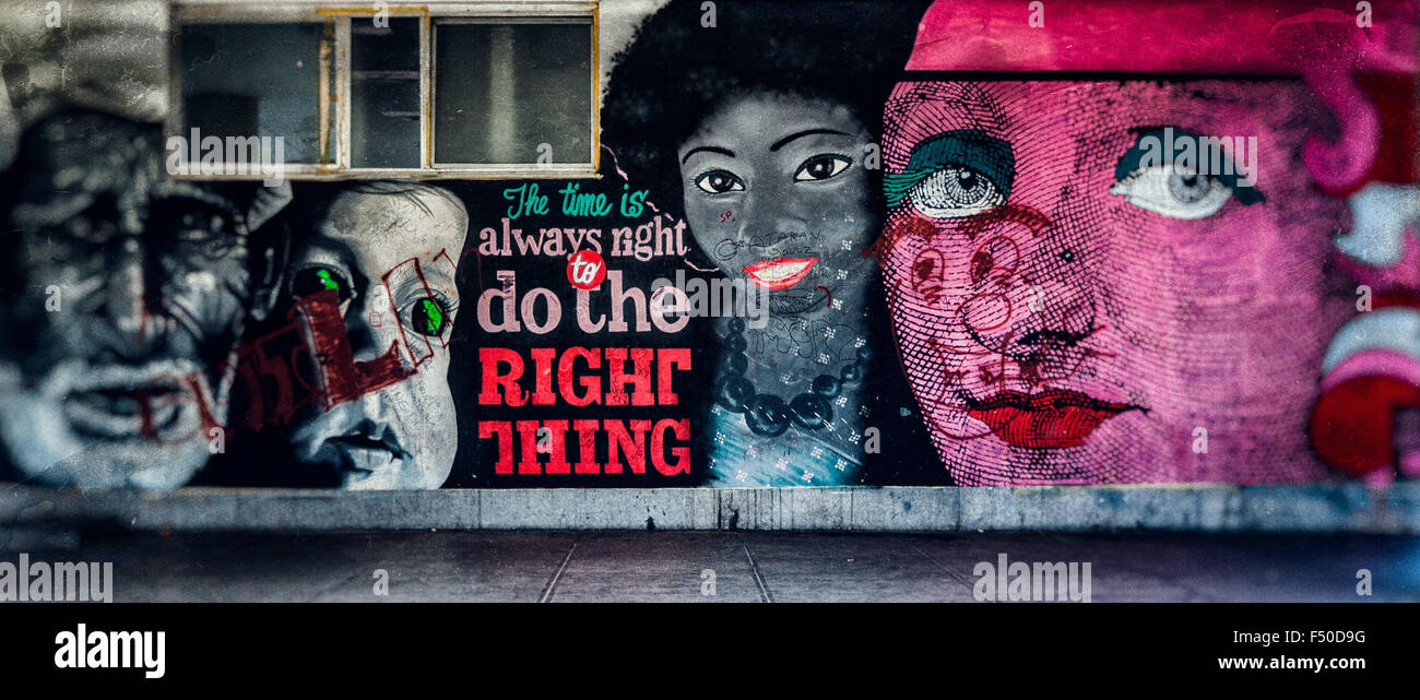 The right thing - Stock Image