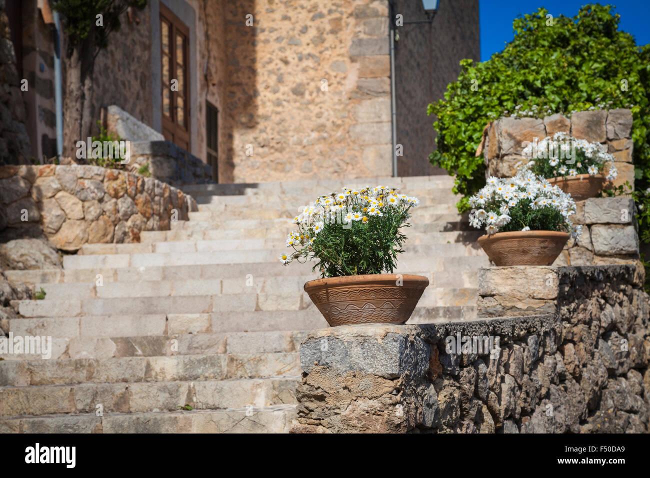 Village of Deia on the island of Mallorca - Stock Image