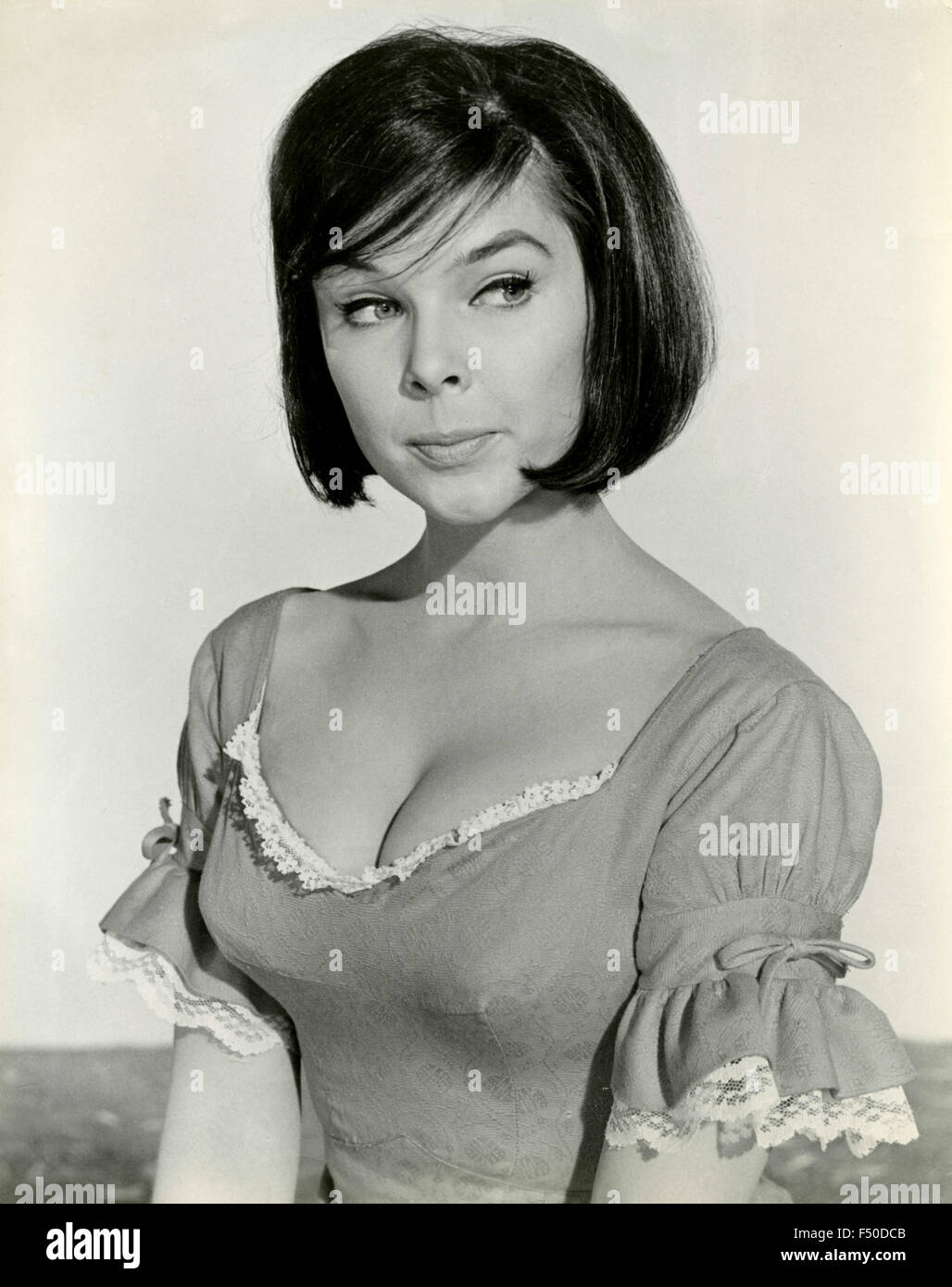 The American model and actress Yvonne Craig - Stock Image