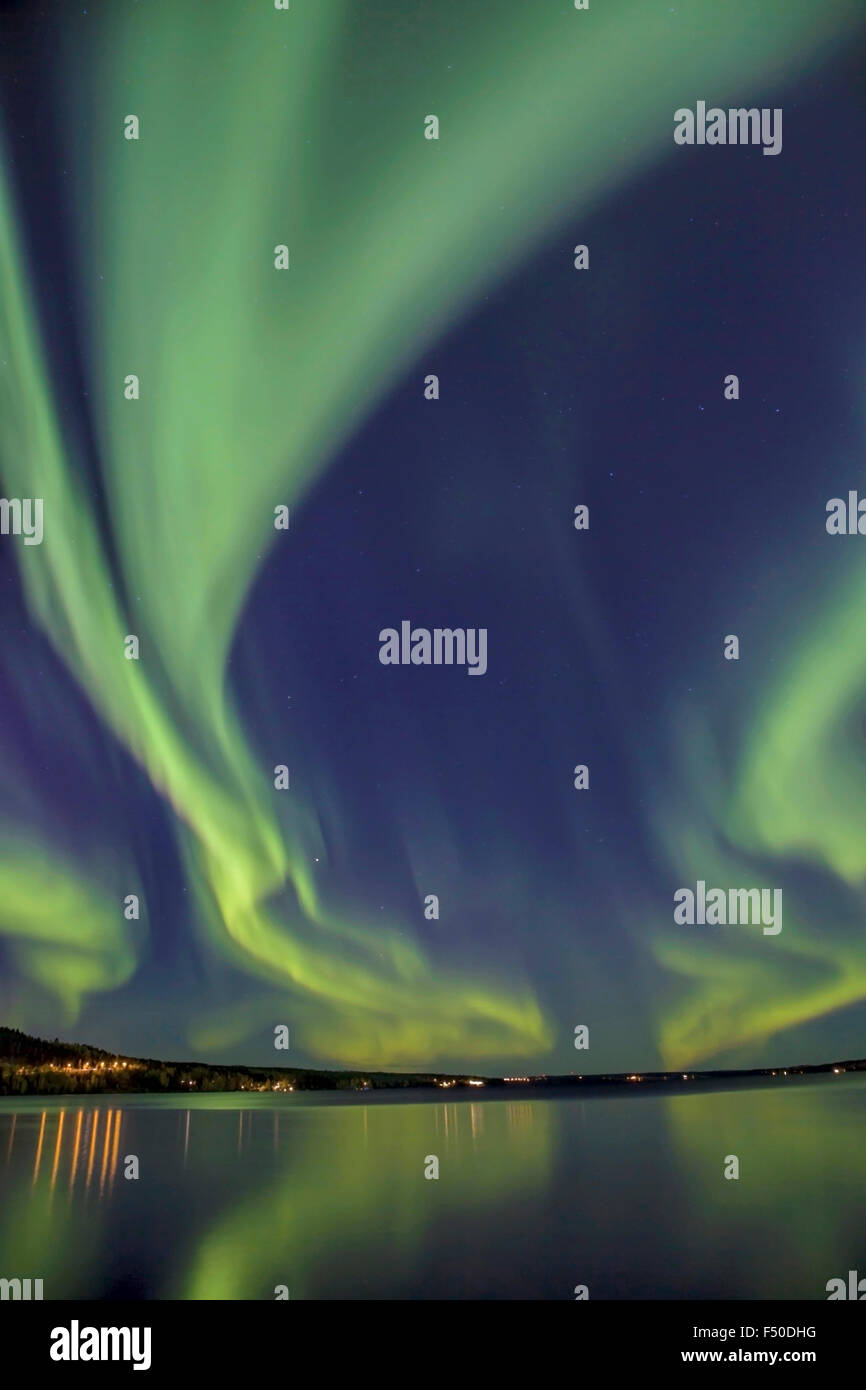 Northern Light in north Sweden - Stock Image