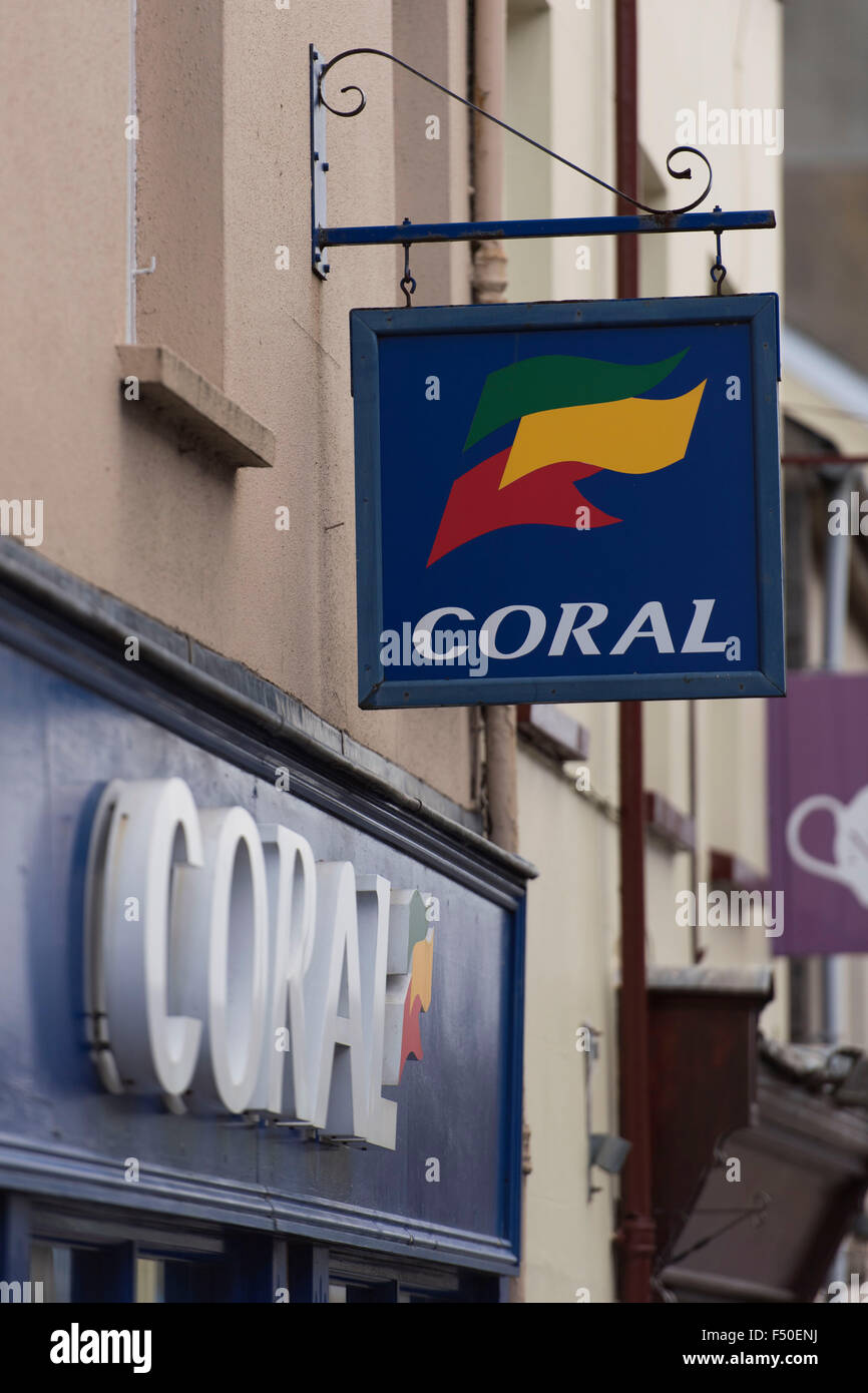 A Coral betting shop on the high street. - Stock Image