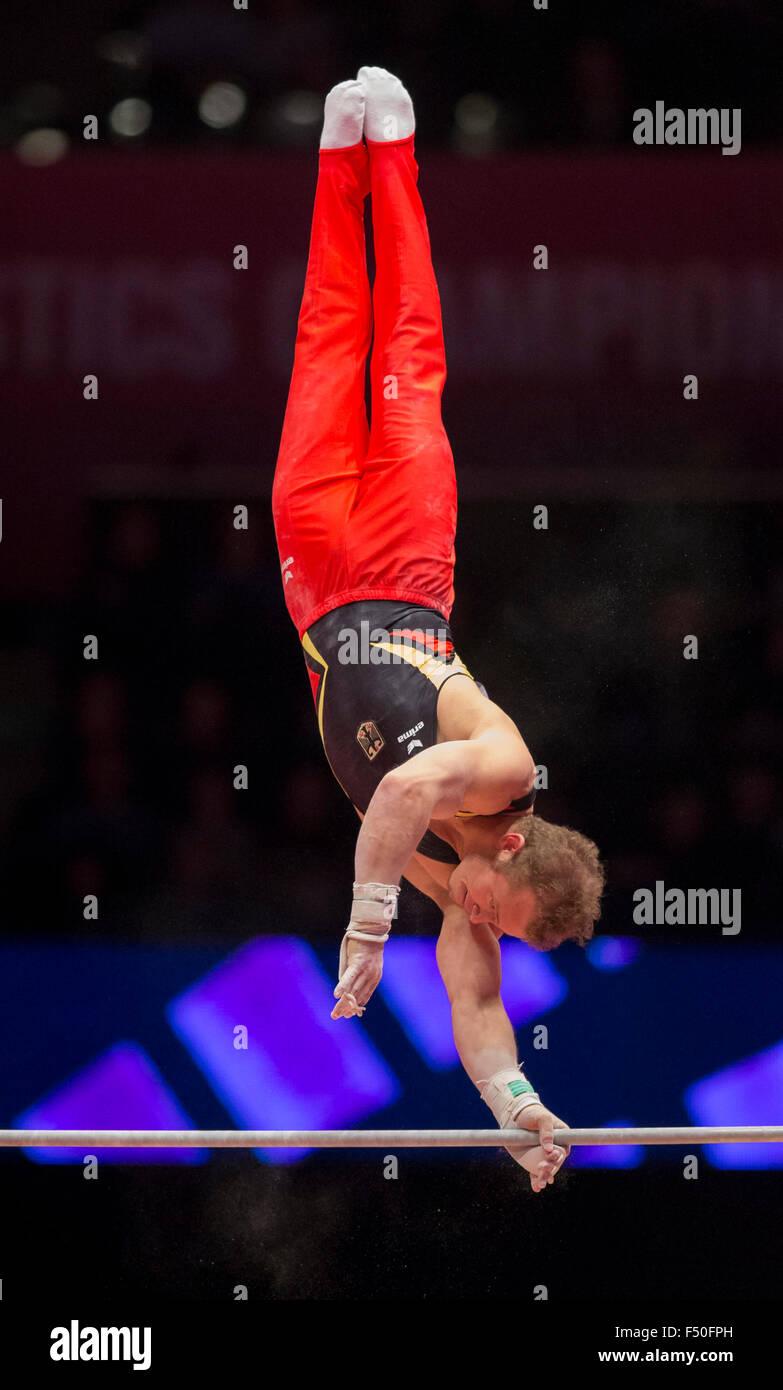 Glasgow, Scotland. 25th Oct, 2015. FIG Artistic Gymnastics World Championships. Day Three. Fabian HAMBUECHEN (GER) - Stock Image