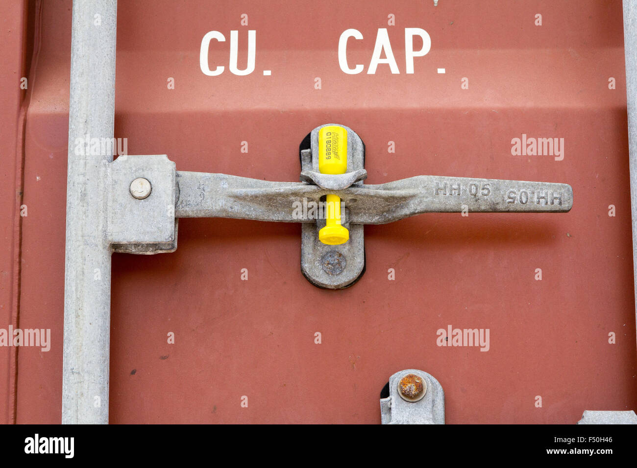 Shipping Container Locking Handle With A Uniquely Numbered