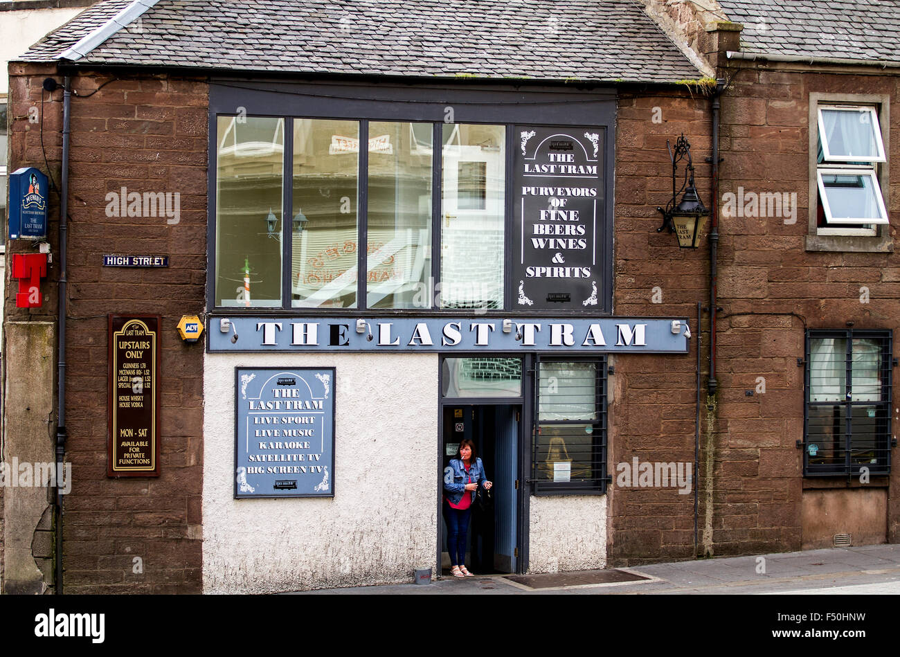 Scottish Pub 'The Last Tram' is a situated along 146 High Street Lochee Dundee, UK - Stock Image