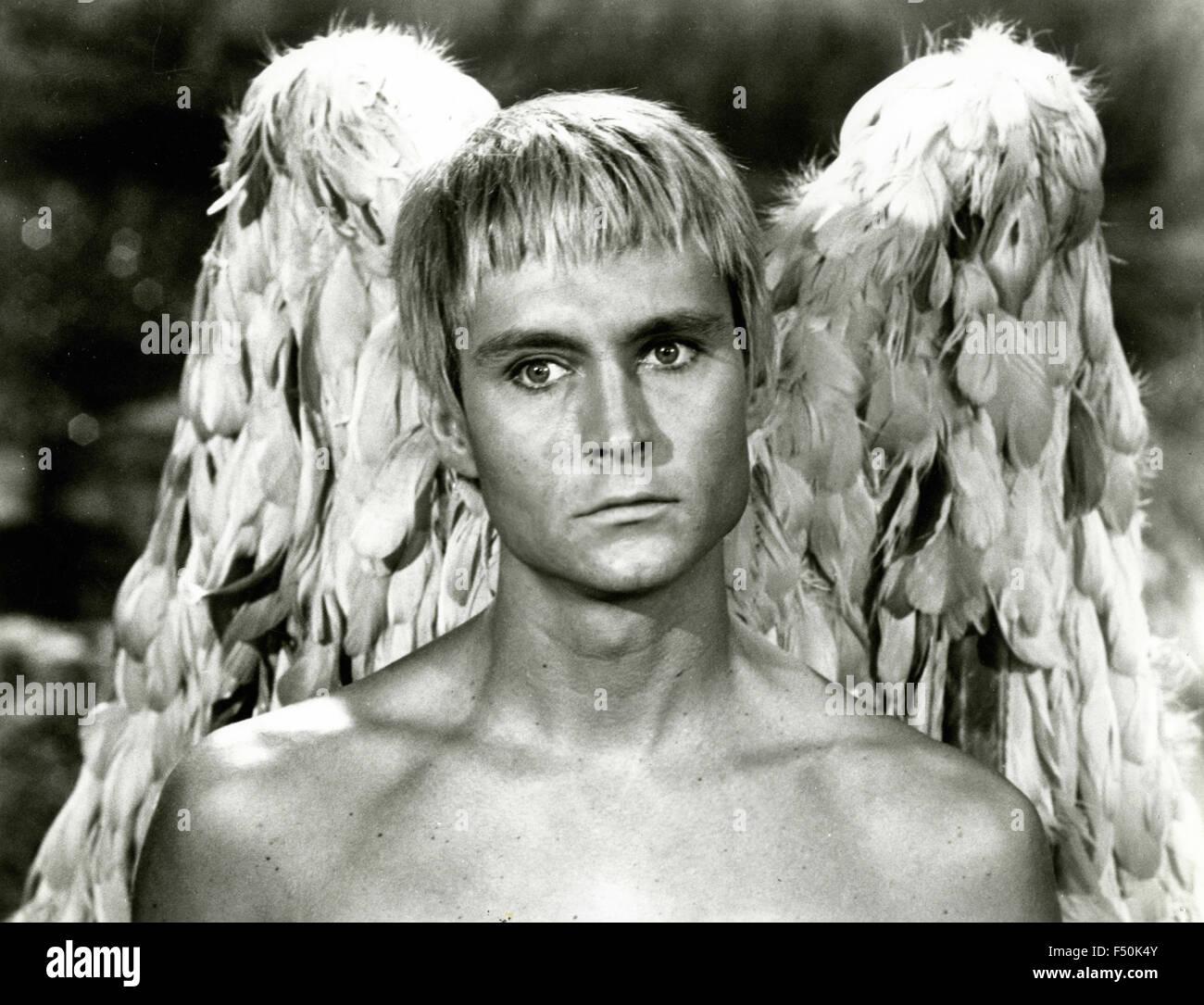Actor John Phillip Law in a scene from the film 'Barbarella', 1968 - Stock Image